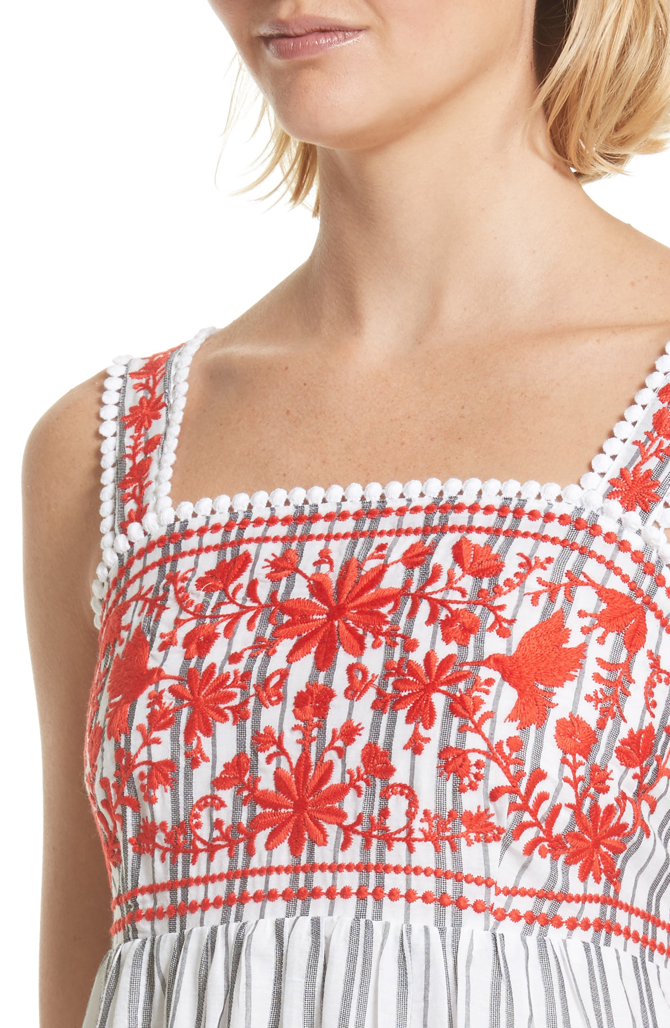 embroidered sundress,                             Alternate thumbnail 4, color,                             146
