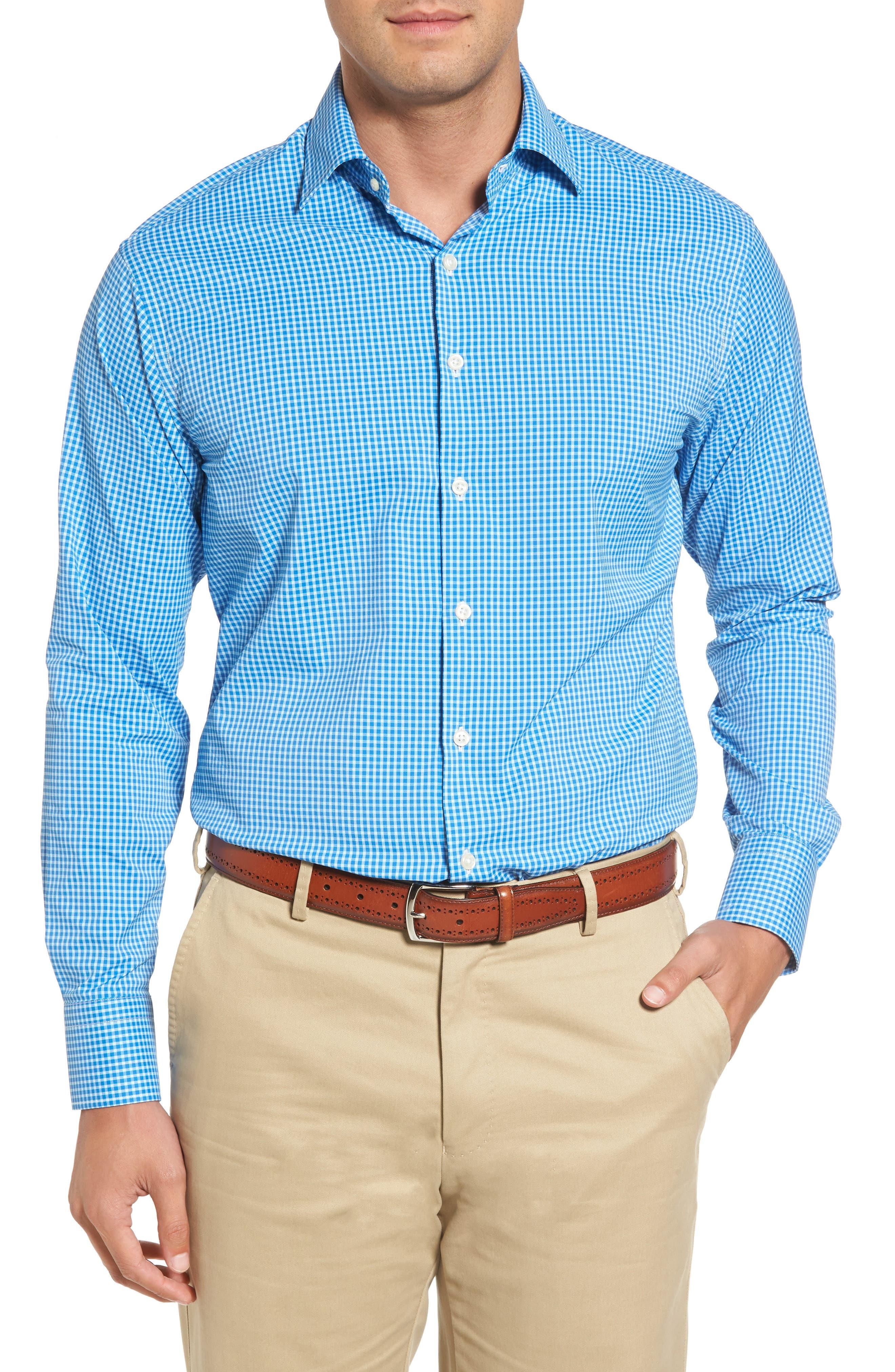 Statler Regular Fit Check Performance Sport Shirt,                         Main,                         color, 403