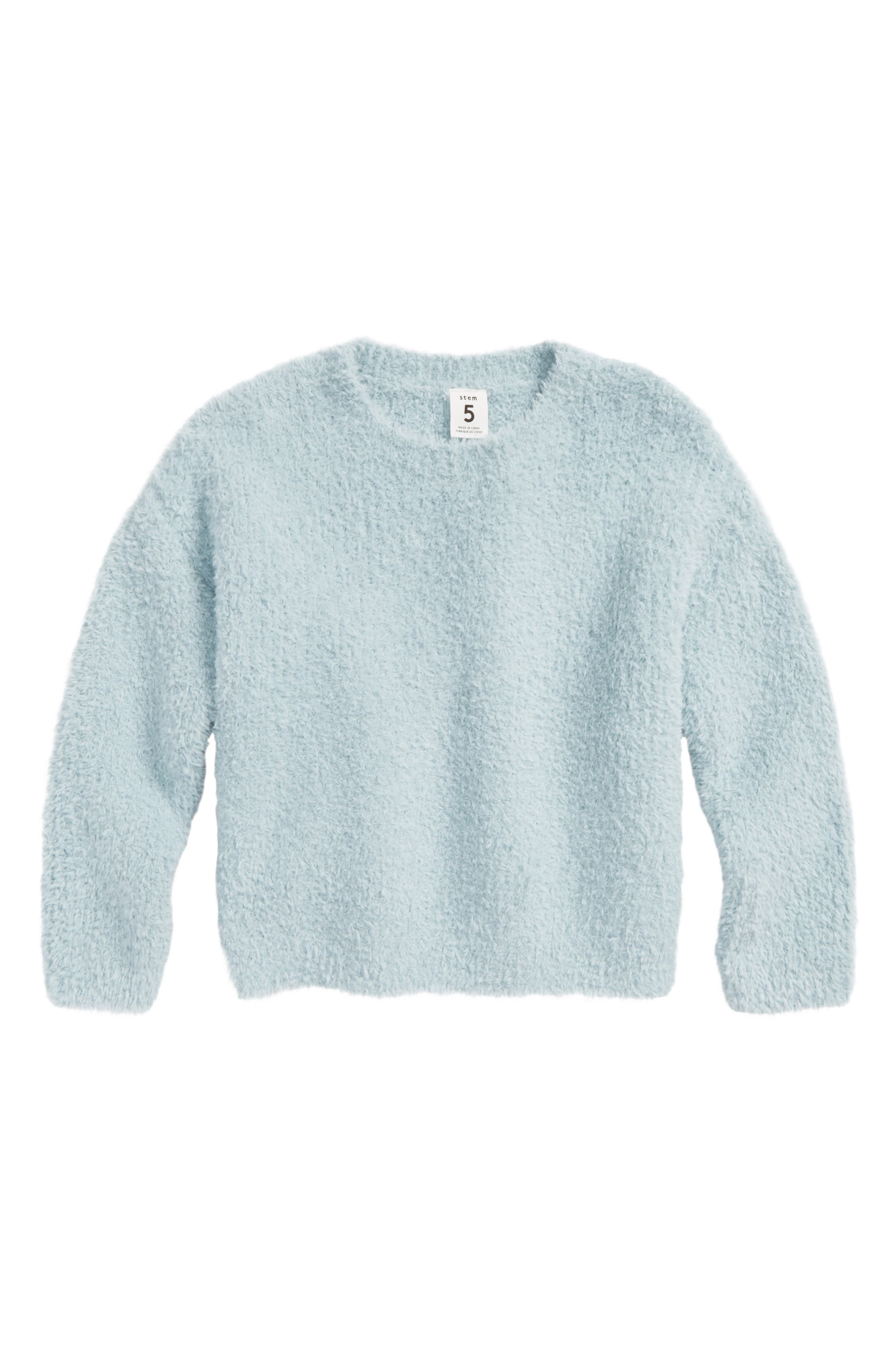 Fluffy Pullover Sweater,                             Main thumbnail 1, color,                             450
