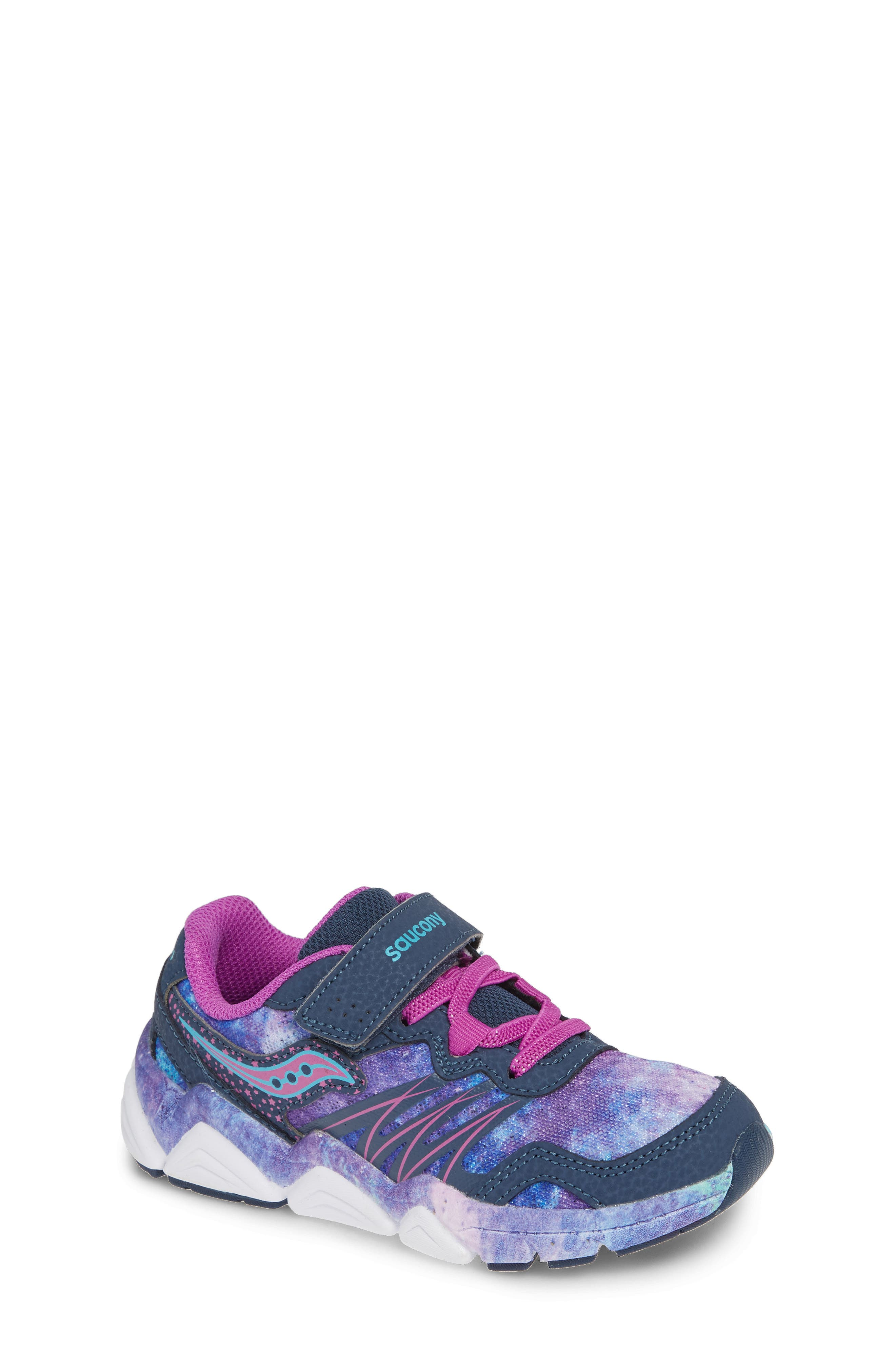 Kotaro Flash Sneaker,                             Main thumbnail 1, color,                             PURPLE LEATHER/ MESH