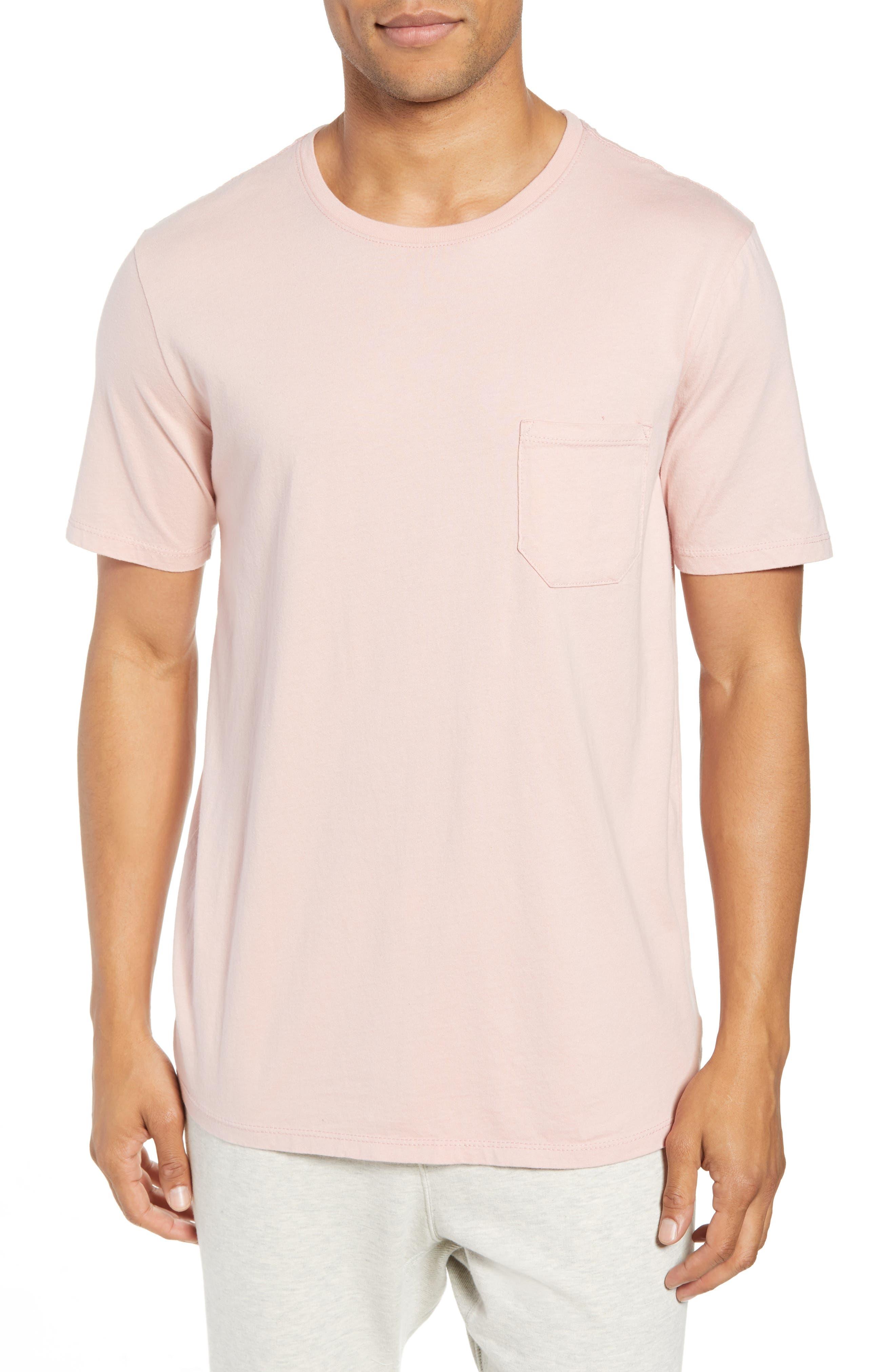 Crewneck Cotton T-Shirt,                         Main,                         color, BLUSH
