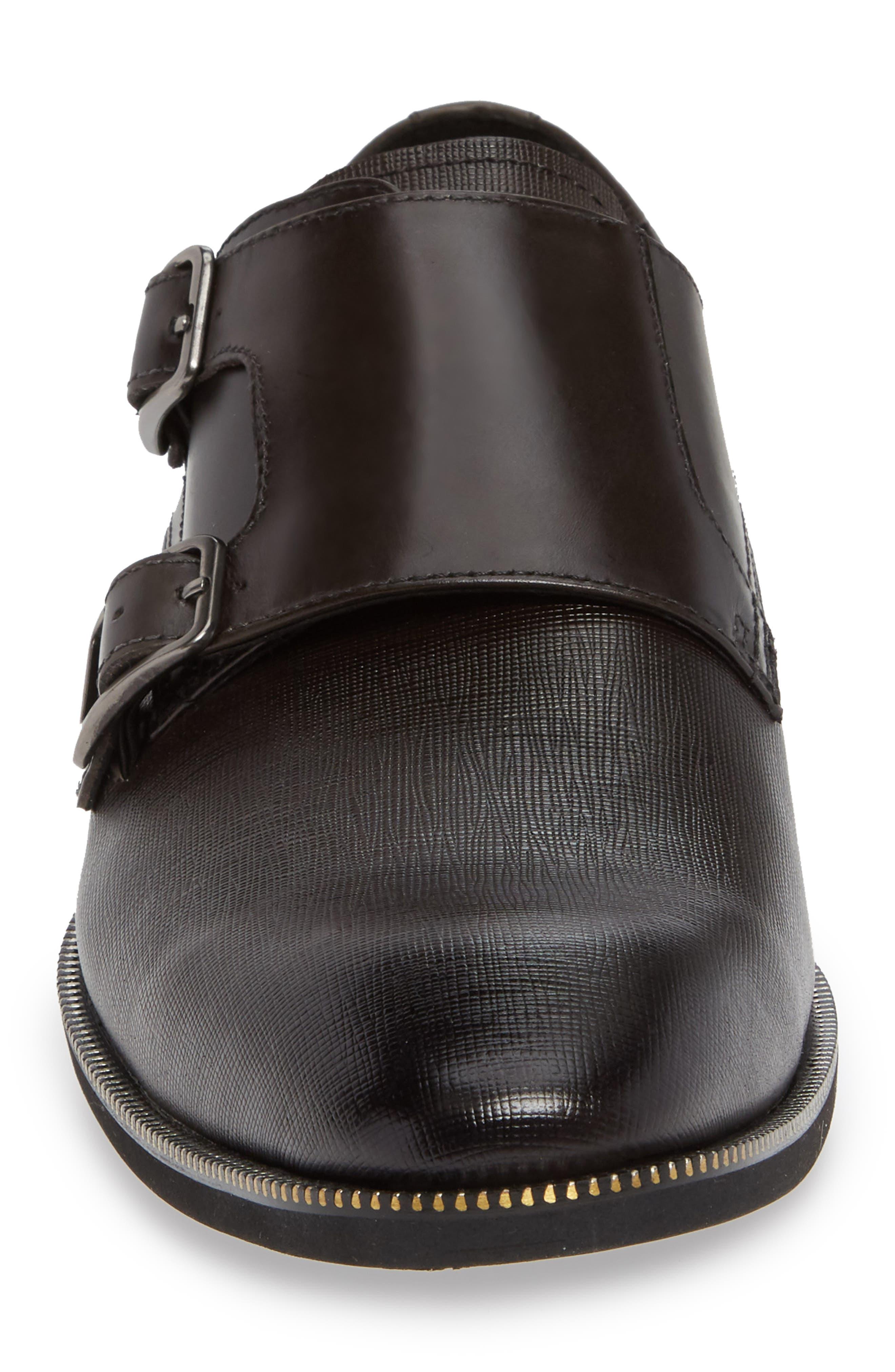 Double Strap Monk Shoe,                             Alternate thumbnail 4, color,                             DARK GREY