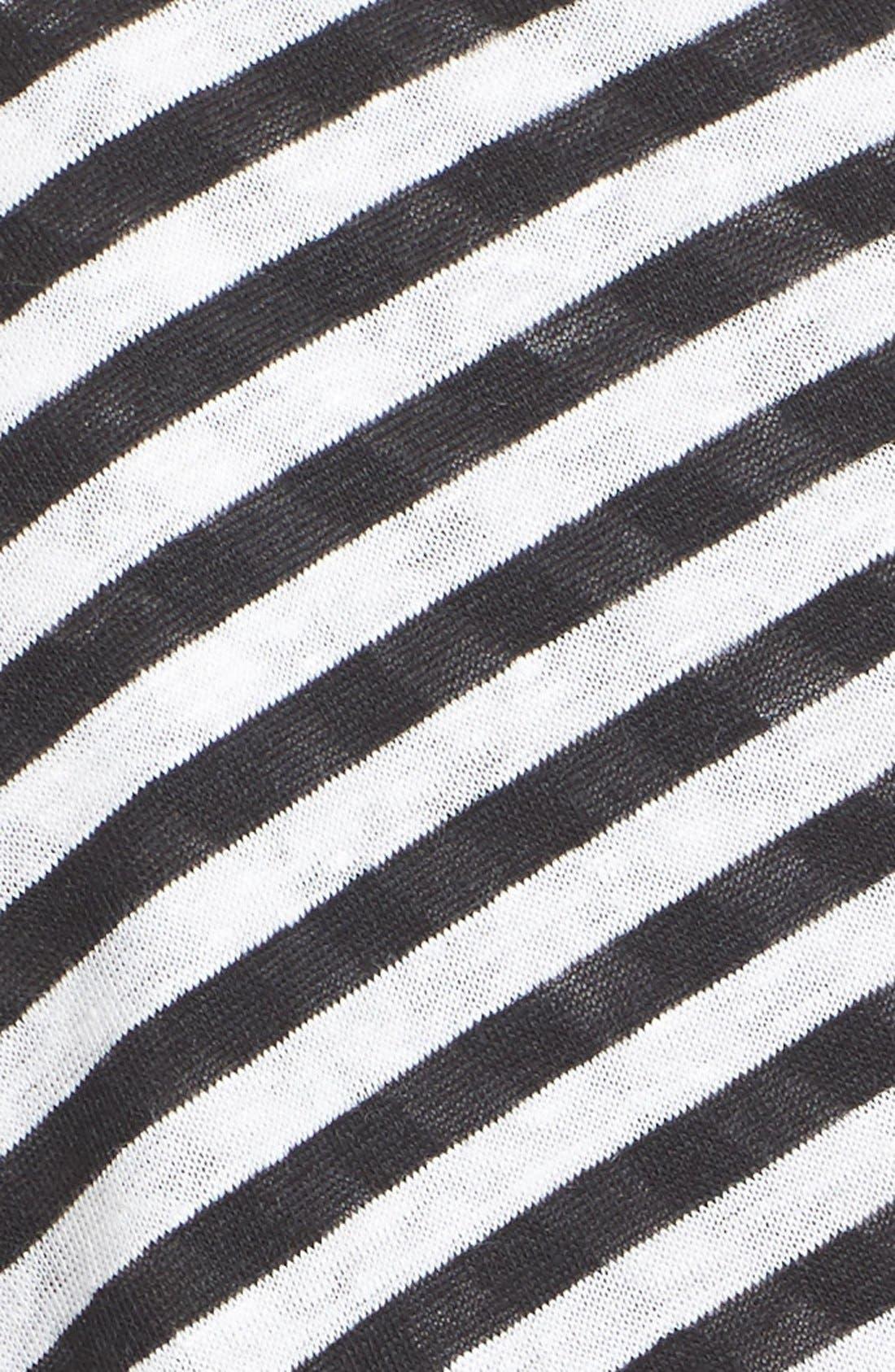 Tesi Stripe Linen Tee,                             Alternate thumbnail 5, color,                             193