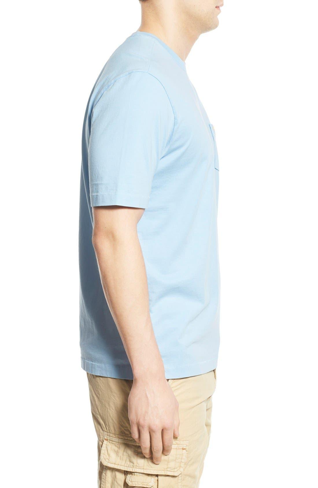 New Bali Sky Pima Cotton Pocket T-Shirt,                             Alternate thumbnail 107, color,