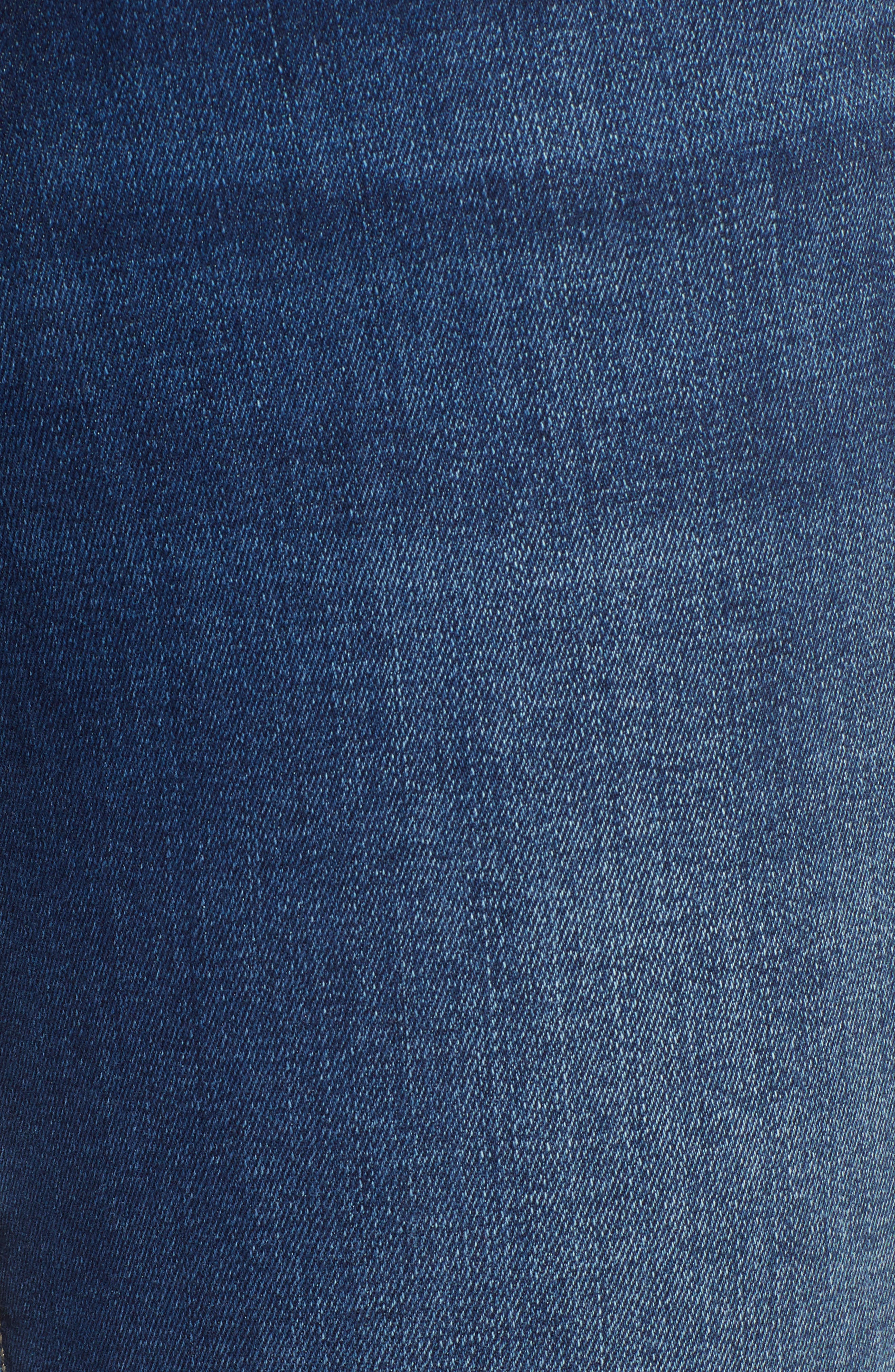 Molly Classic Bootcut Jeans,                             Alternate thumbnail 6, color,                             INDIGO SUPERSOFT