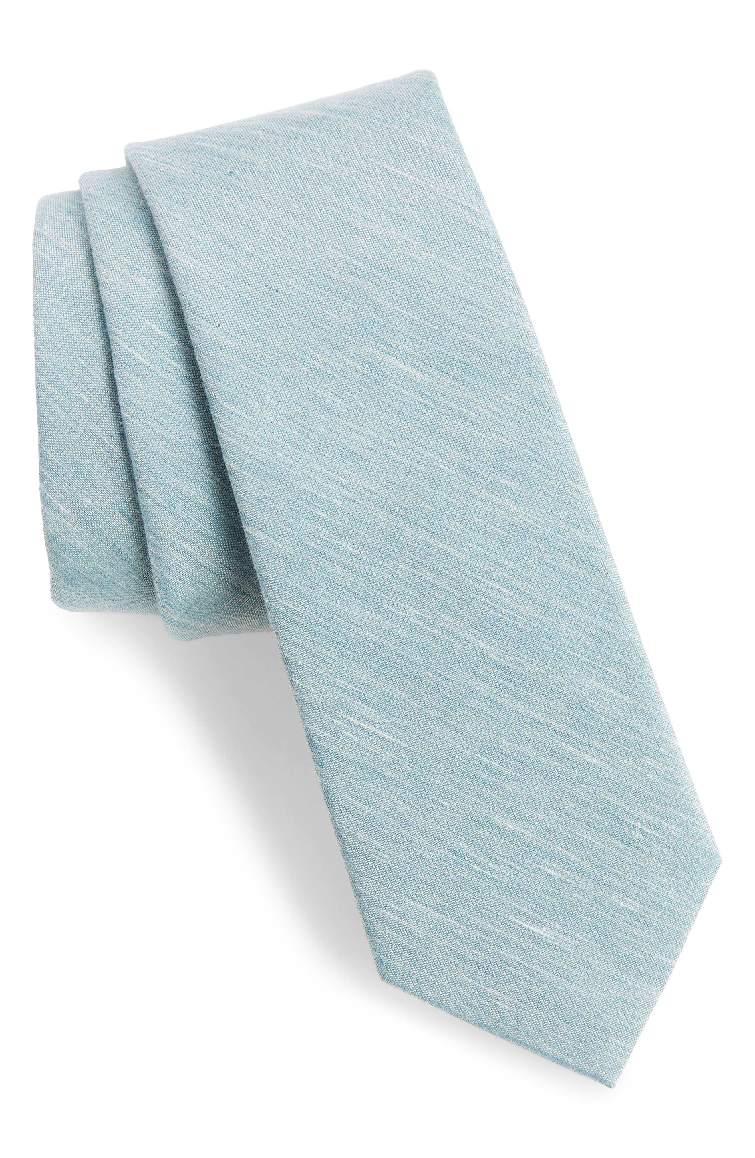 Marcus Solid Cotton Blend Tie,                             Main thumbnail 3, color,