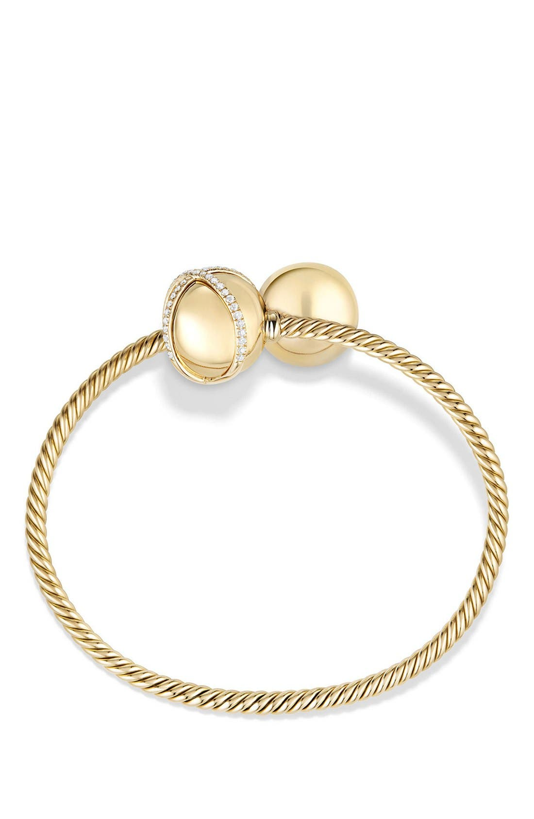 'Solari Bypass' Bracelet with Diamonds in 18K Gold,                             Alternate thumbnail 2, color,                             YELLOW GOLD