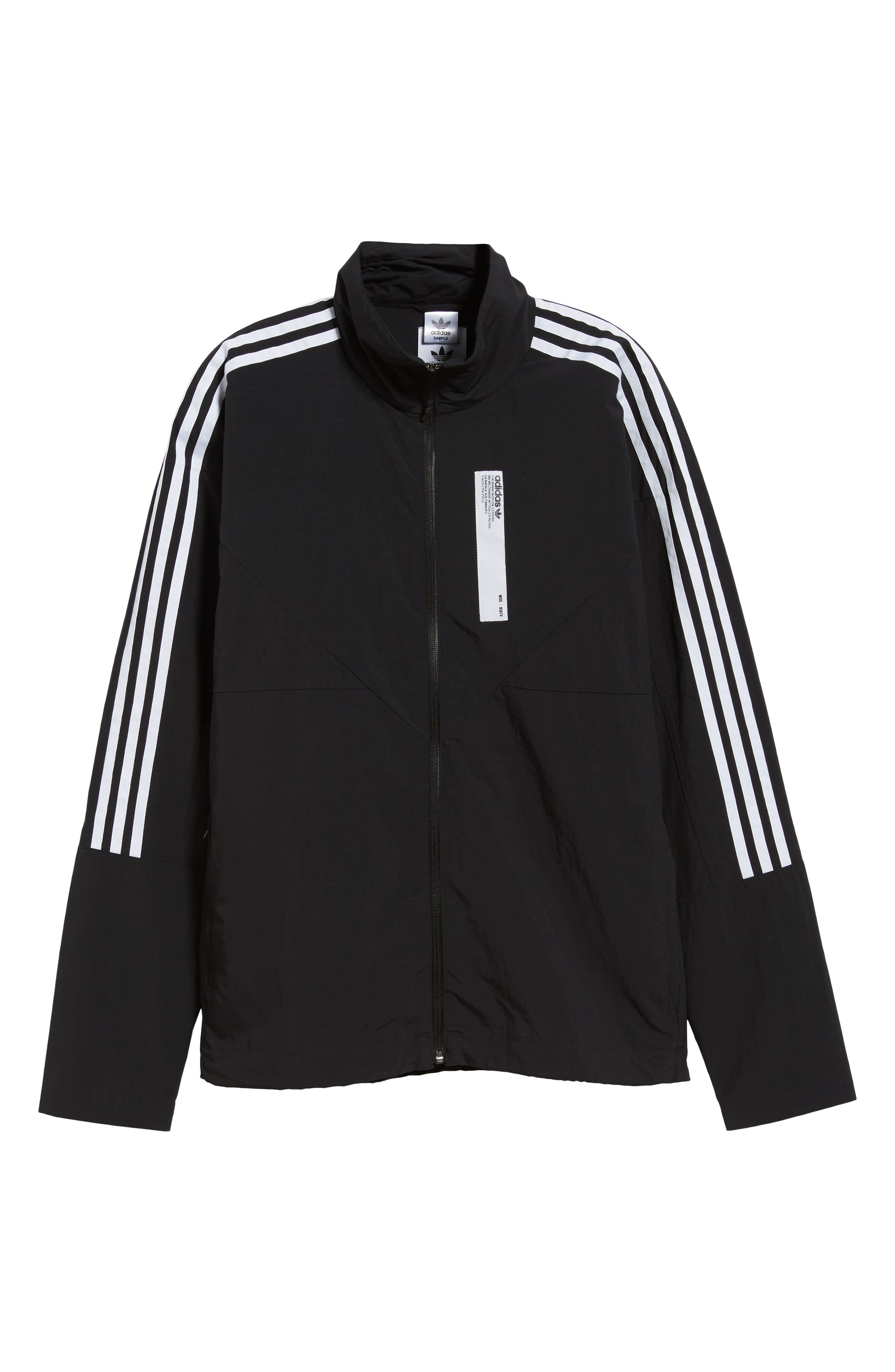NMD Track Jacket,                             Alternate thumbnail 6, color,                             001