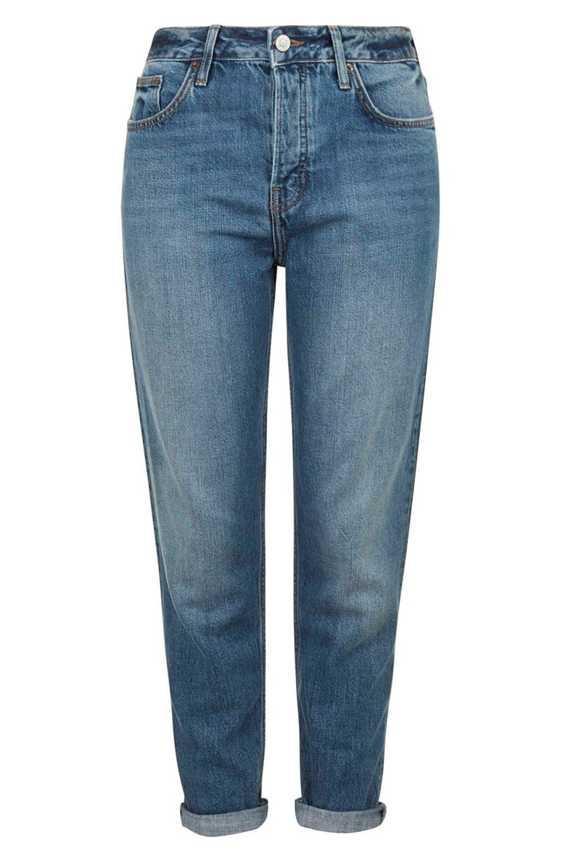 TOPSHOP,                             Moto 'Hayden' Boyfriend Jeans,                             Alternate thumbnail 2, color,                             400