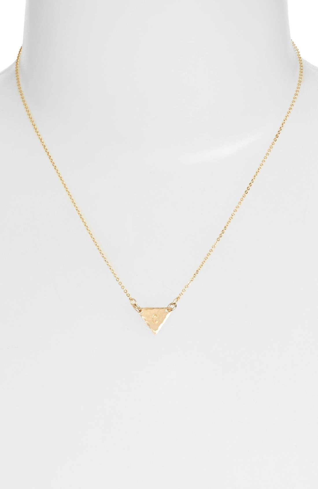 14k-Gold Fill Initial Triangle Necklace,                             Alternate thumbnail 29, color,