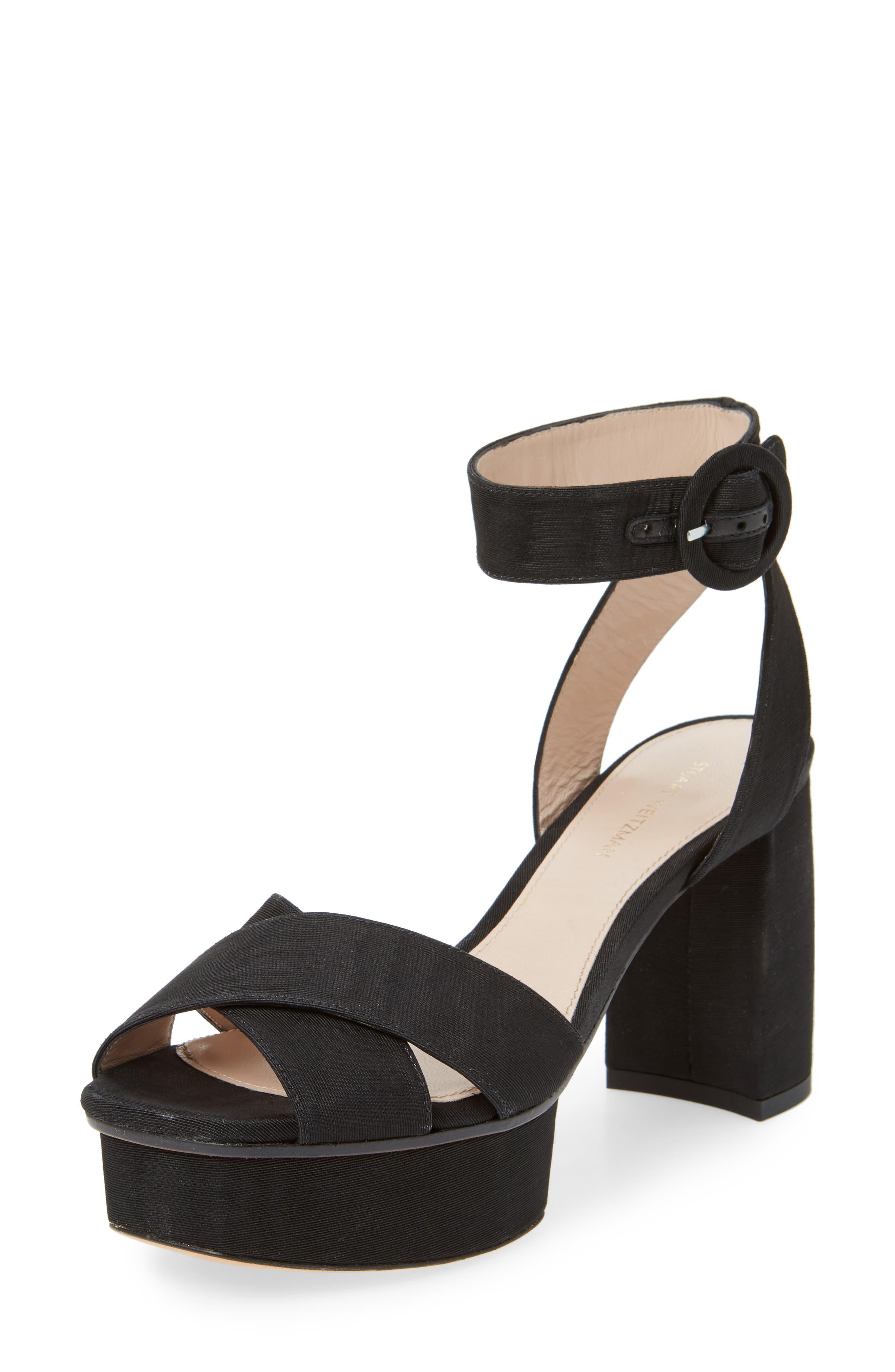 Carmina Ankle Strap Platform Sandal,                             Main thumbnail 1, color,                             001