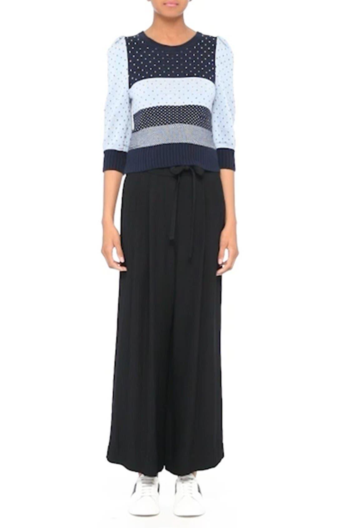 Cotton Jacquard Sweater,                             Alternate thumbnail 8, color,                             411