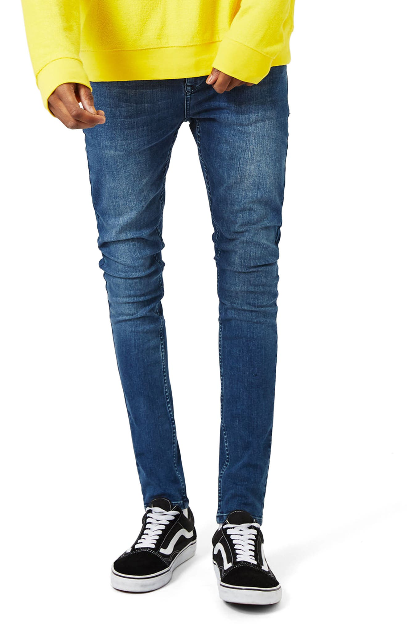 Super Spray On Skinny Fit Jeans, Main, color, 400