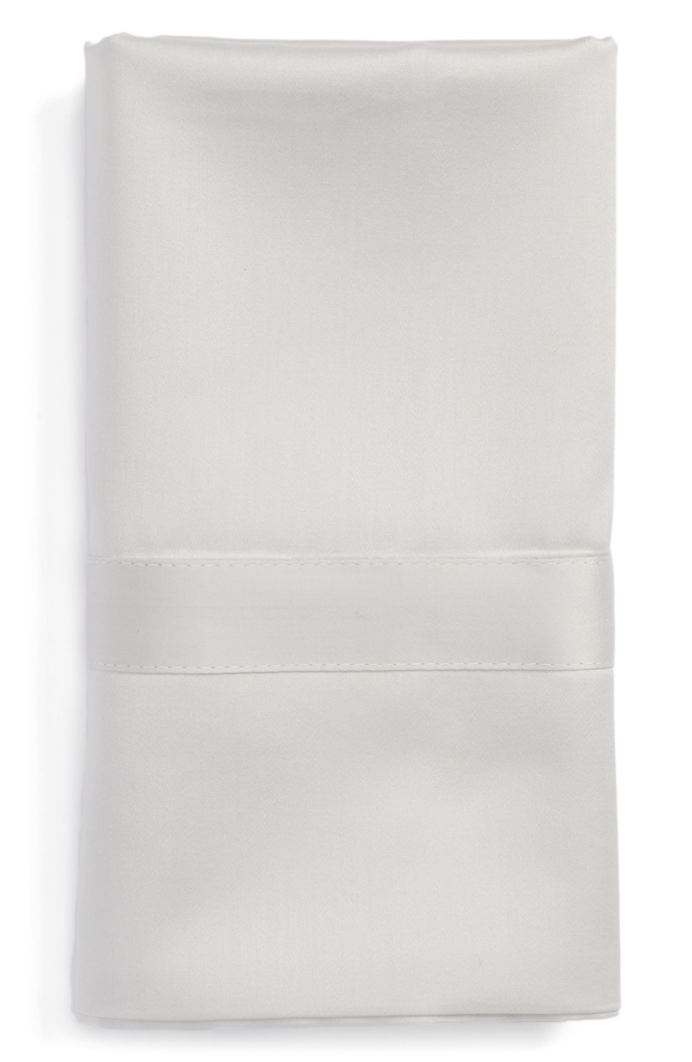 Nocturne 600 Thread Count Pillowcase,                         Main,                         color, SILVER