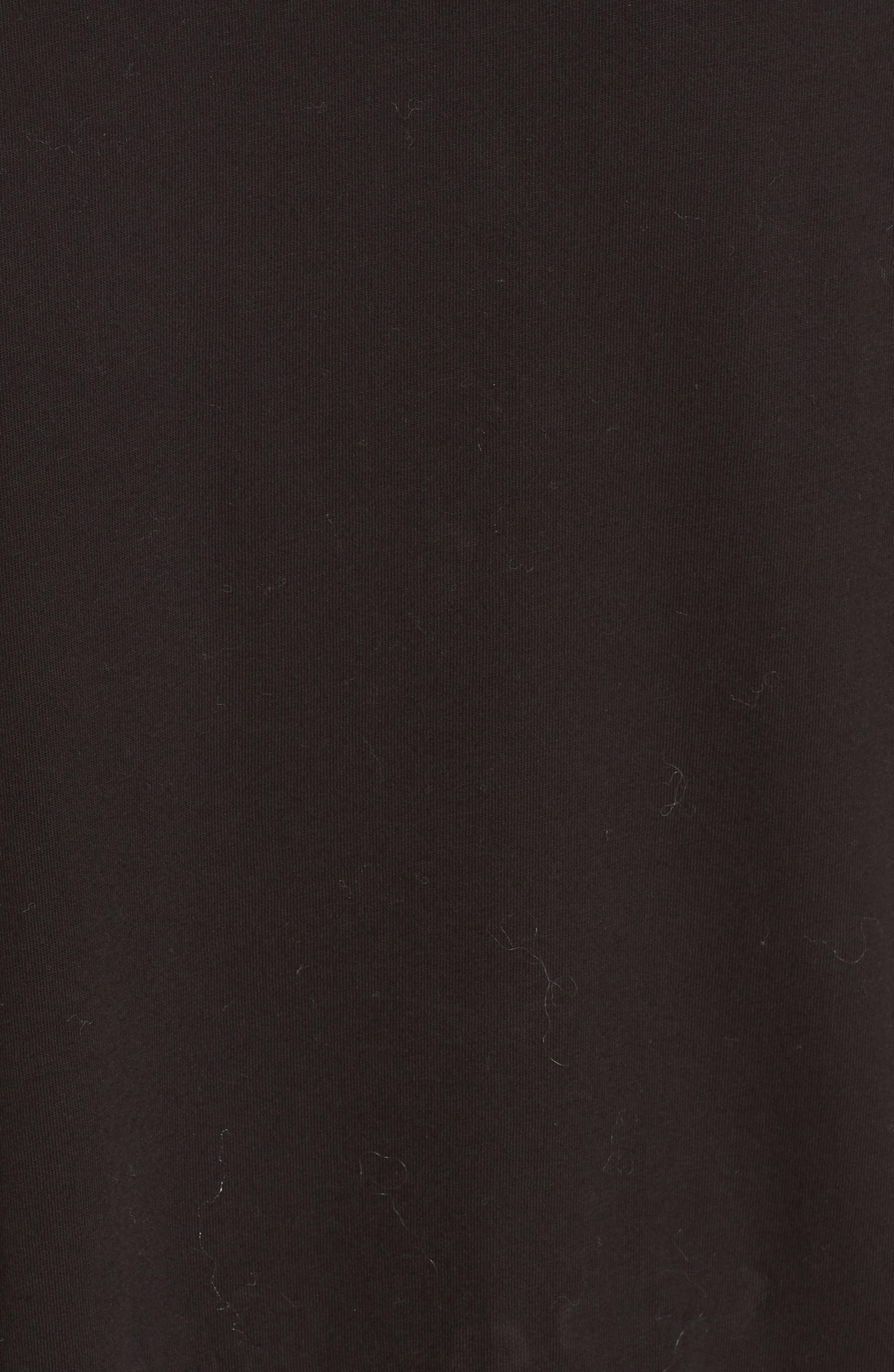 Ruffle Asymmetric Top,                             Alternate thumbnail 5, color,                             BLACK
