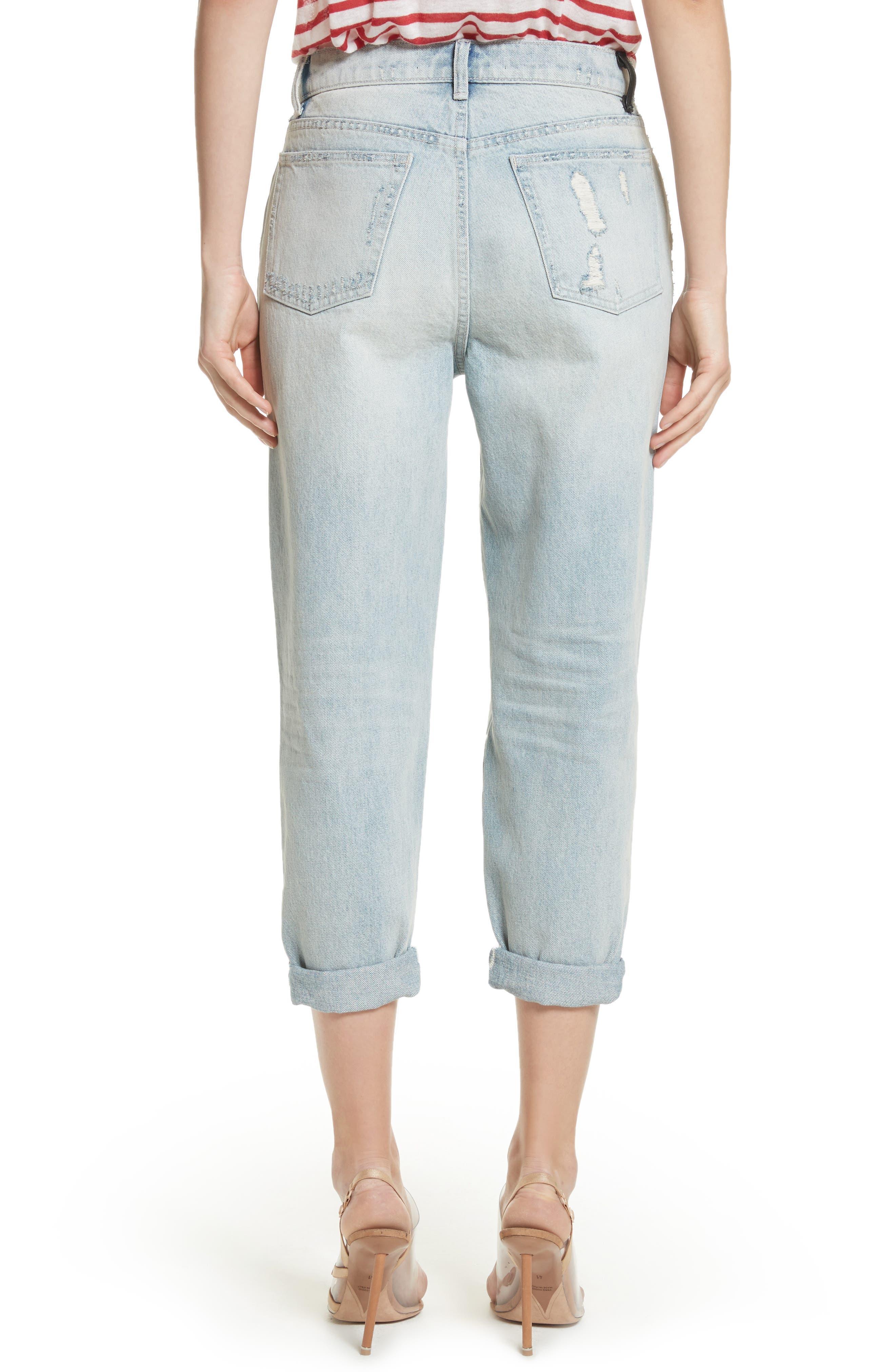 Distressed Boyfriend Jeans,                             Alternate thumbnail 2, color,