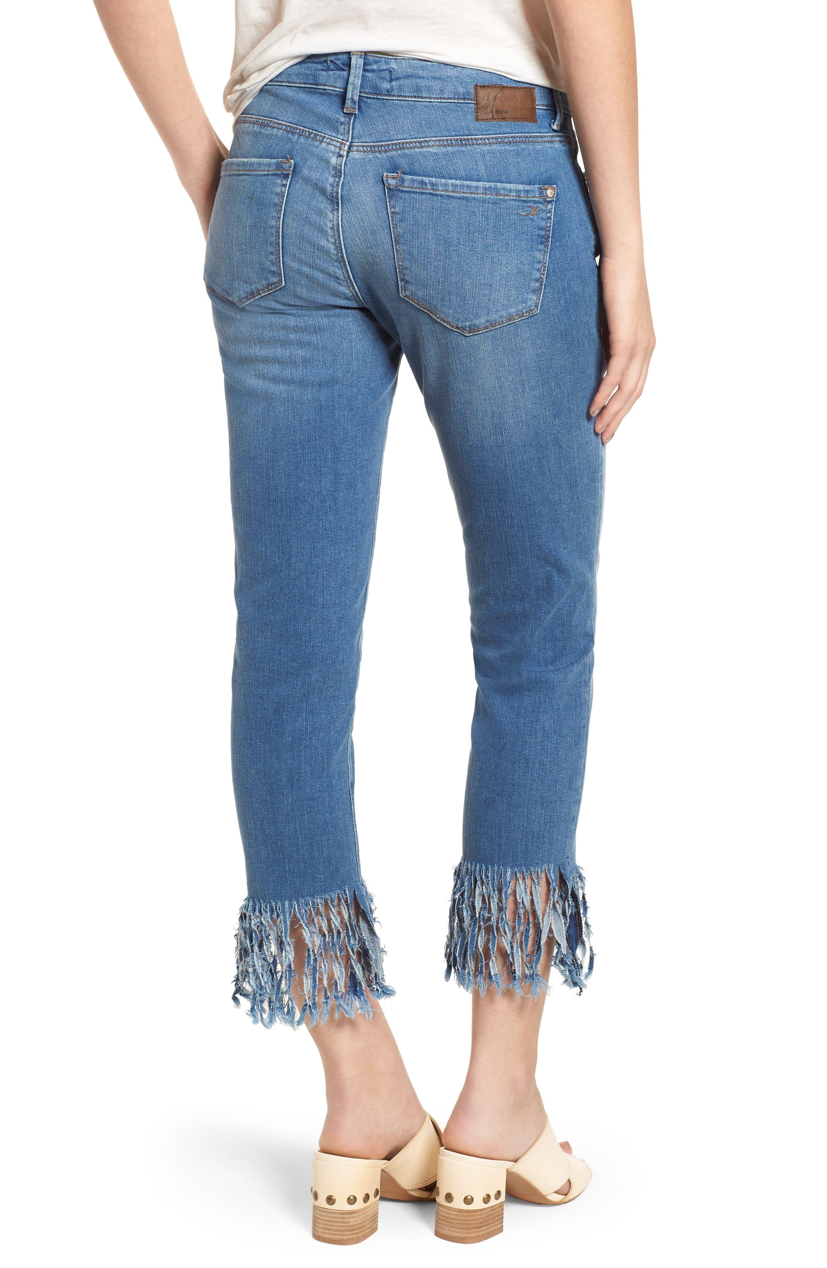 Kerry Fringe Hem Ankle Jeans,                             Alternate thumbnail 2, color,                             420