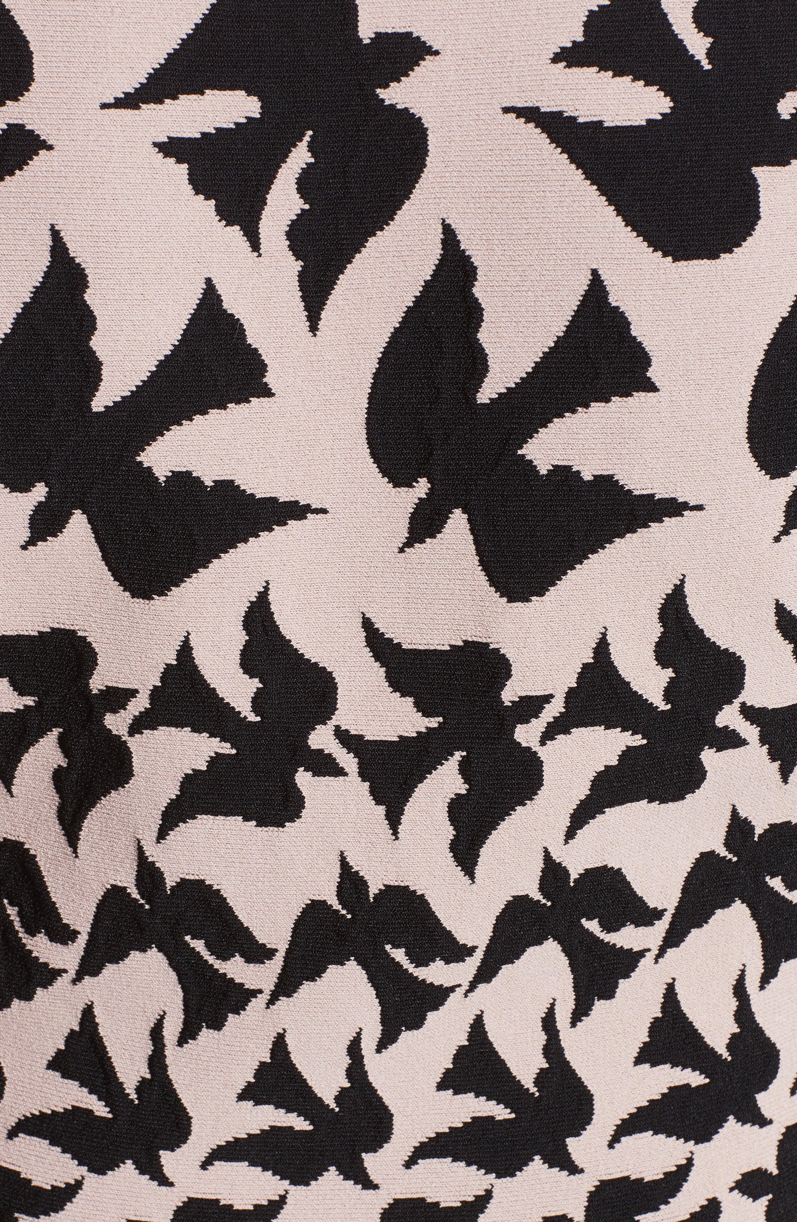 Swallow Jacquard Dress,                             Alternate thumbnail 6, color,                             655