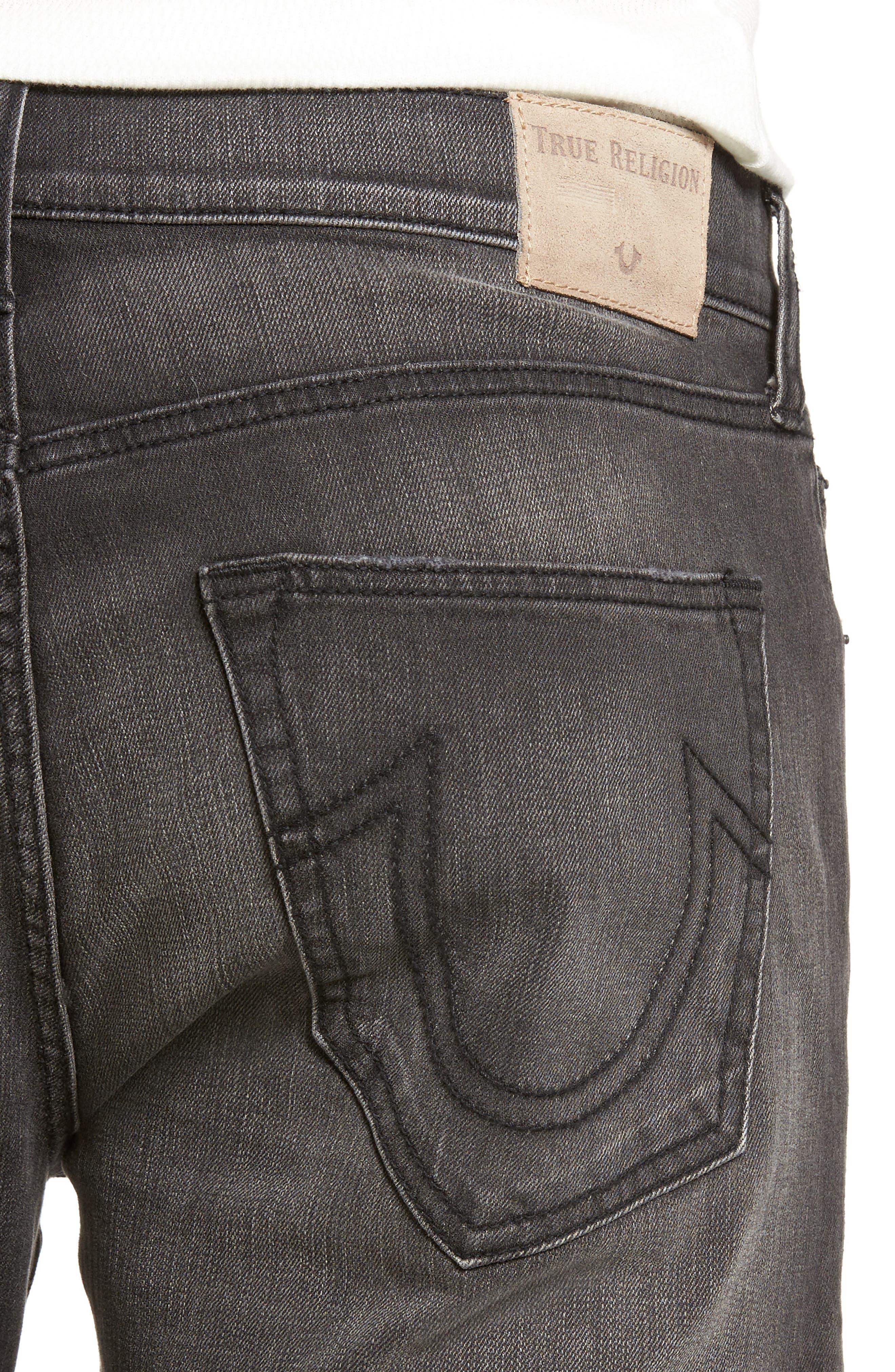 Geno Straight Leg Jeans,                             Alternate thumbnail 4, color,                             DARK REBEL RACE