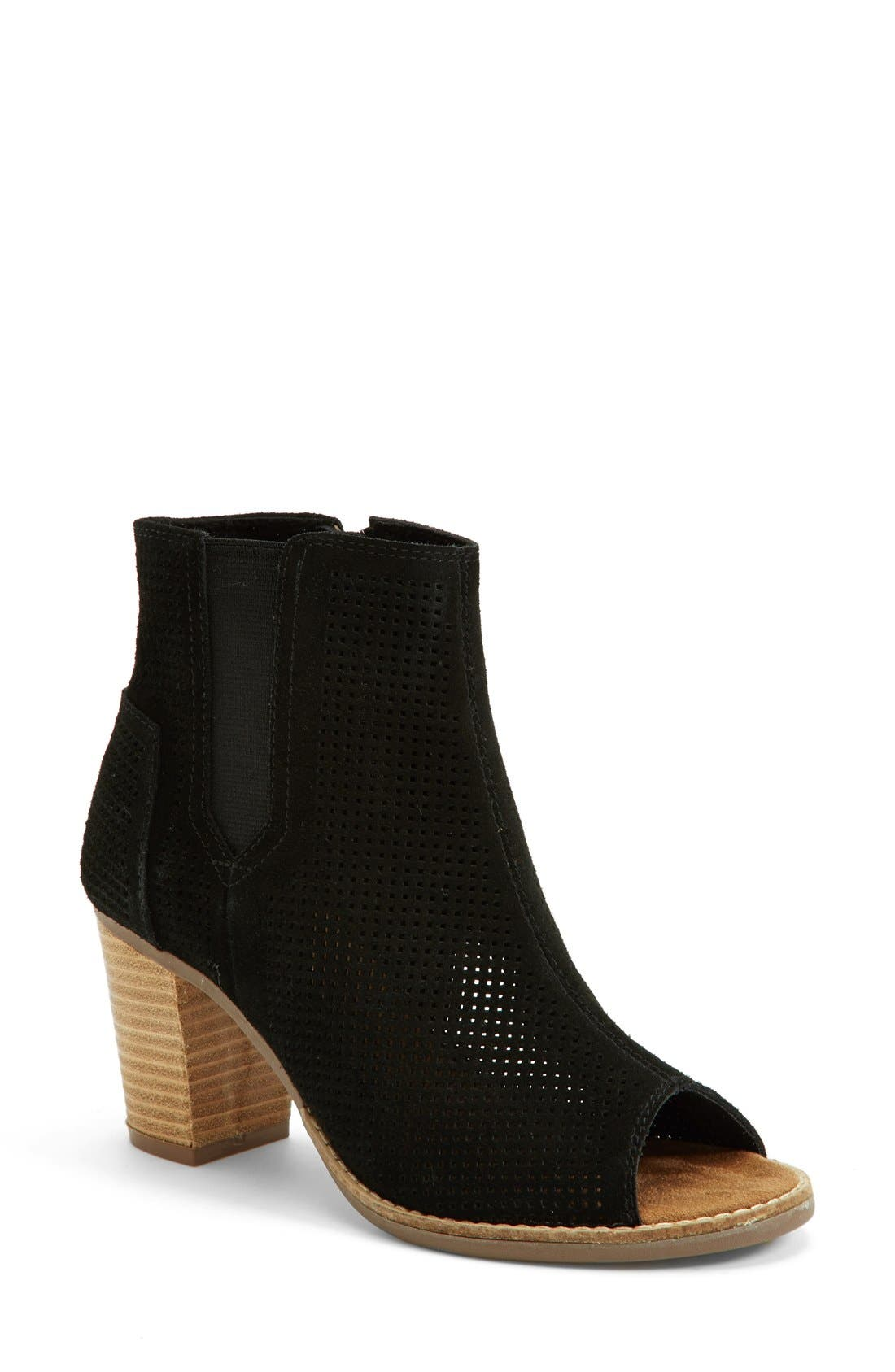 'Majorca' Suede Bootie,                         Main,                         color, 001