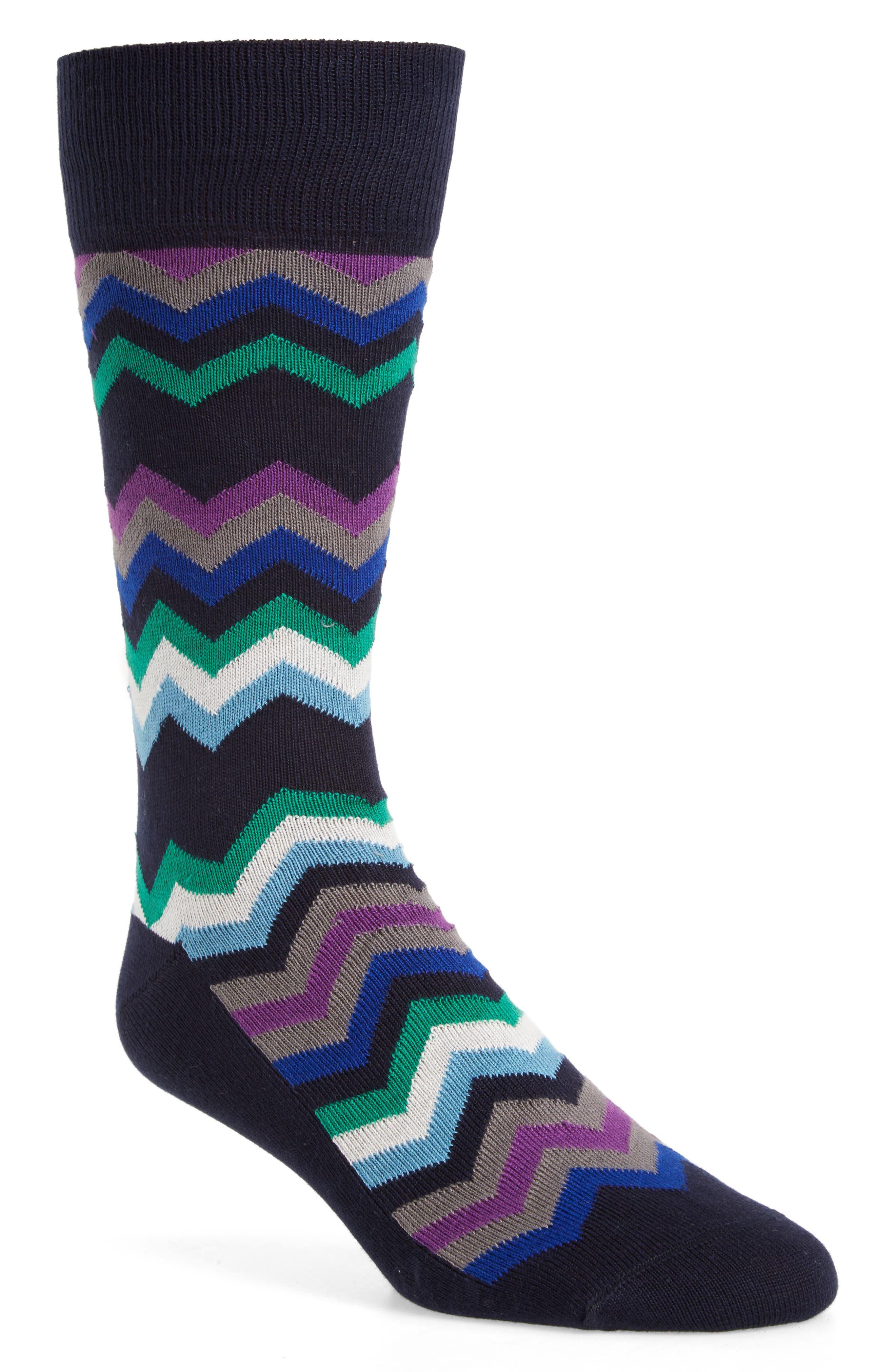 Fleet Chevron Socks,                             Main thumbnail 1, color,                             415