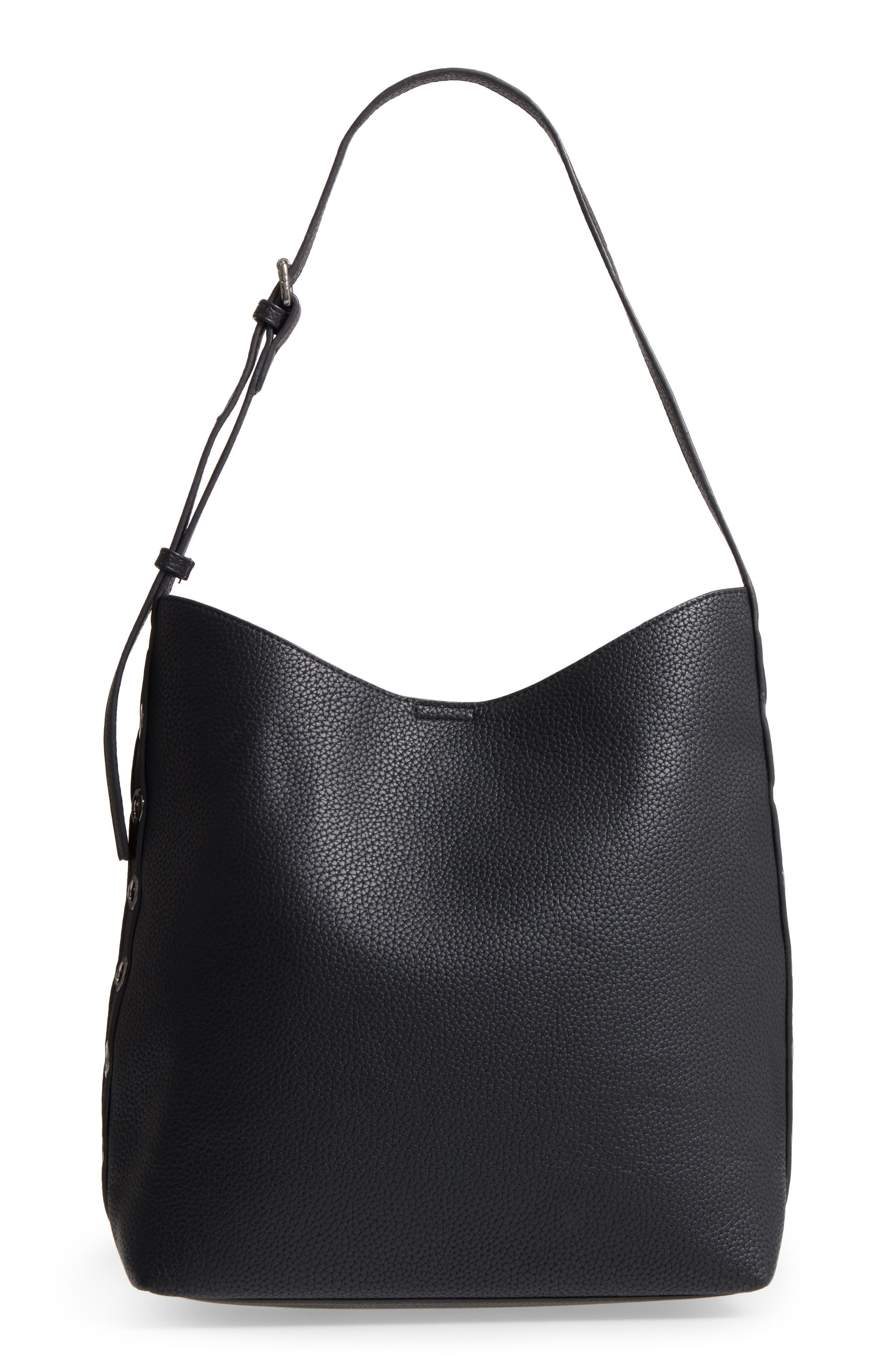 Samara Faux Leather Shoulder Bag,                             Main thumbnail 1, color,                             001