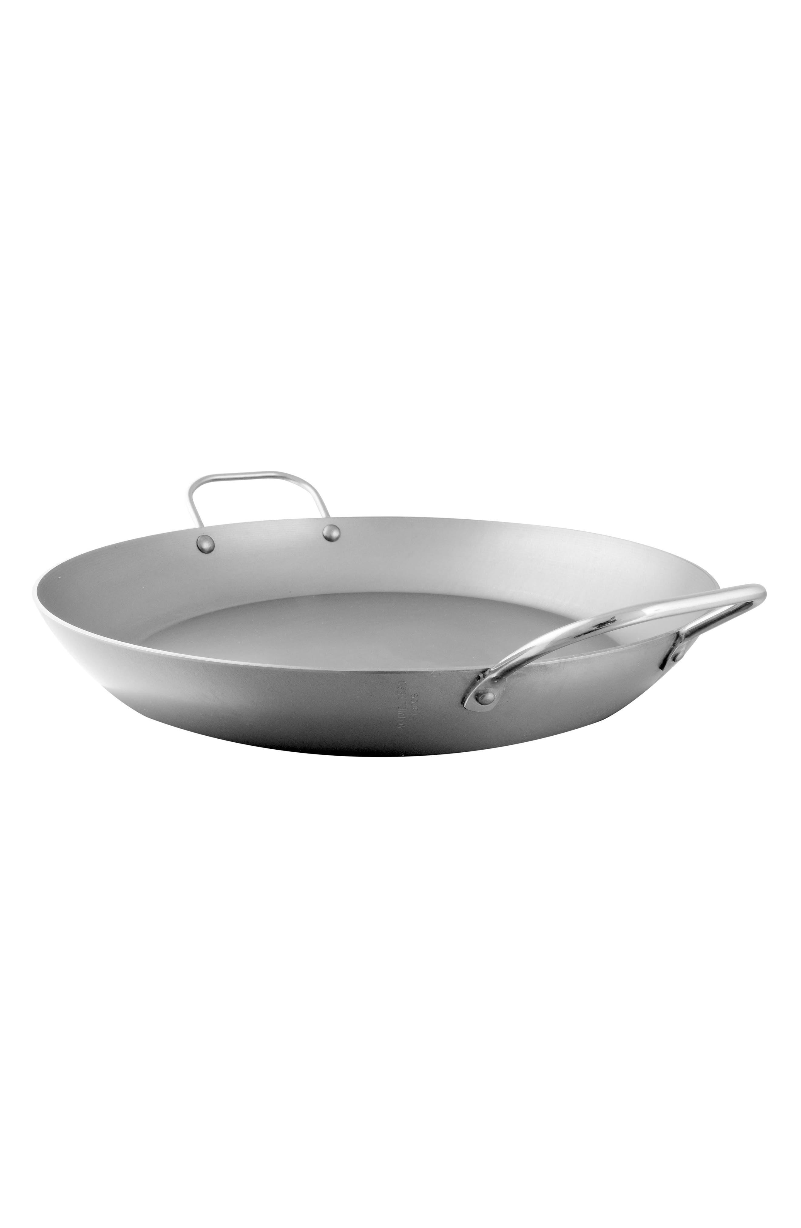 M'steel Carbon Steel Paella Pan,                         Main,                         color, STEEL