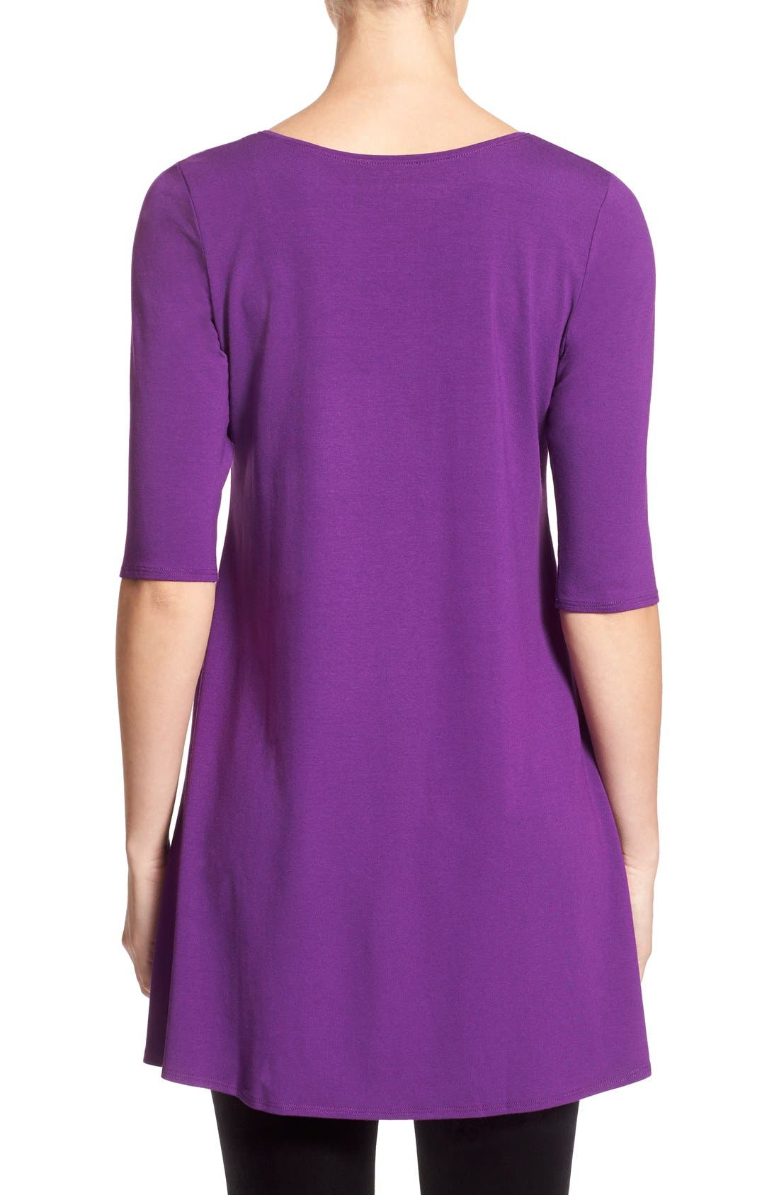 Scoop Neck Elbow Sleeve Jersey Tunic,                             Alternate thumbnail 31, color,
