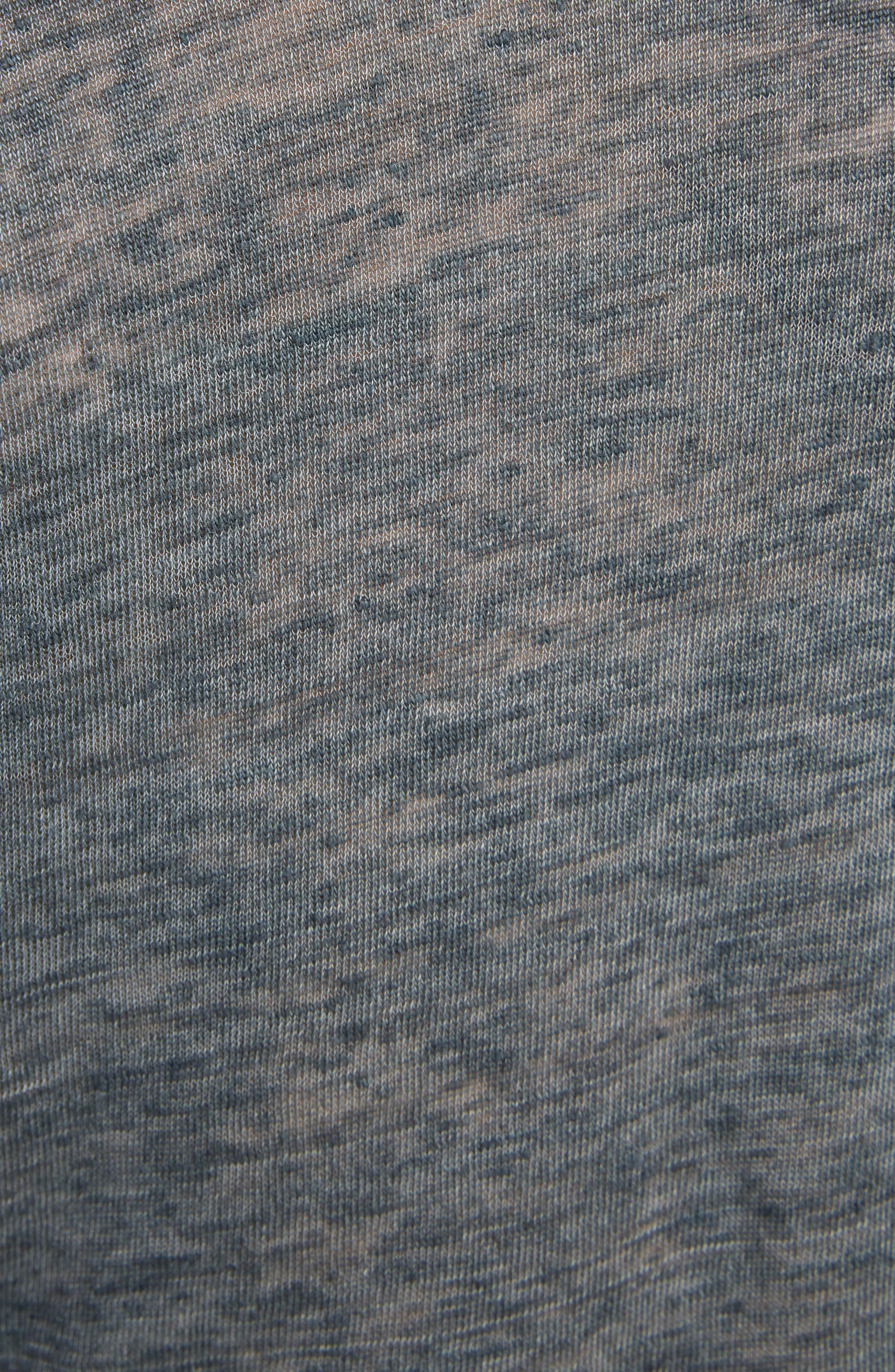 Linen Scoop Neck Tank Top,                             Alternate thumbnail 5, color,                             GREY