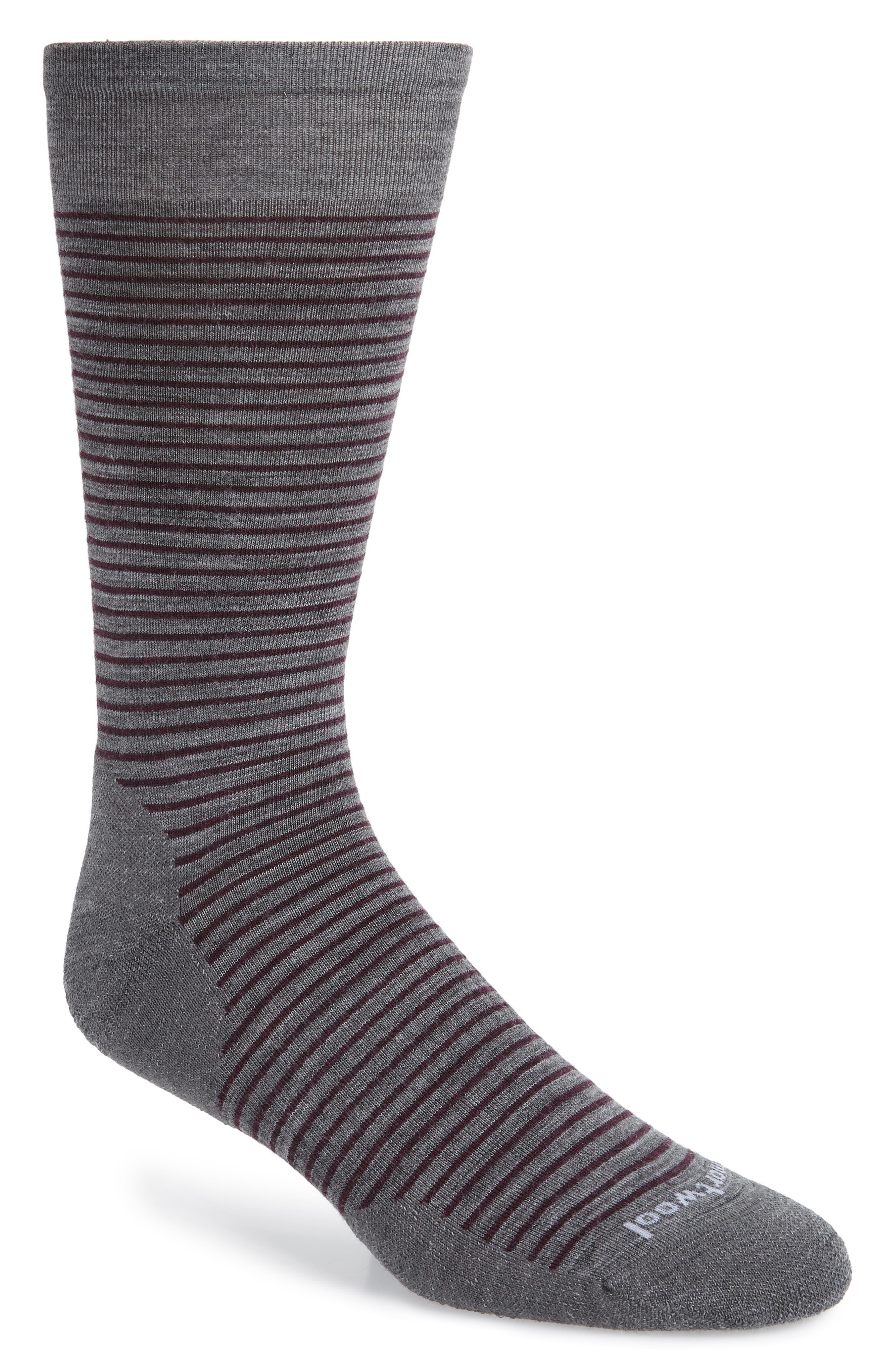 Flying J Stripe Socks,                             Main thumbnail 1, color,                             MEDIUM GREY HEATHER