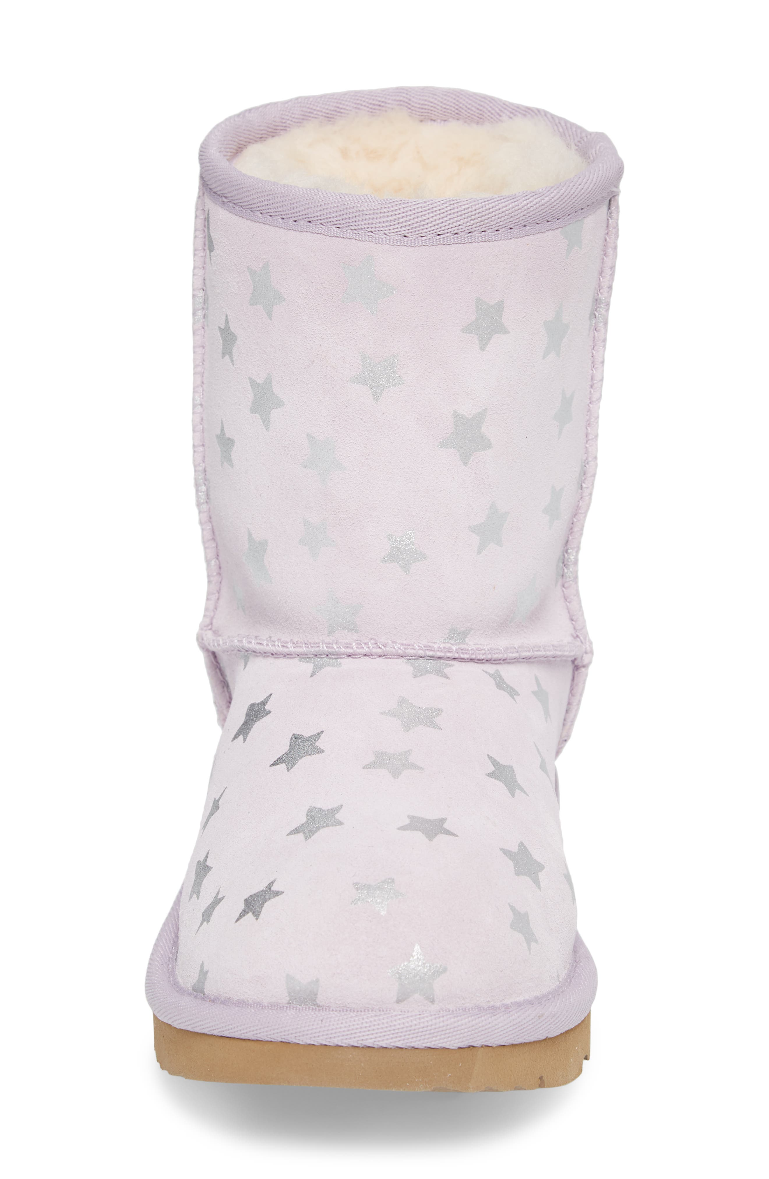 Classic Short II Water Resistant Stars Boot,                             Alternate thumbnail 4, color,                             LILAC