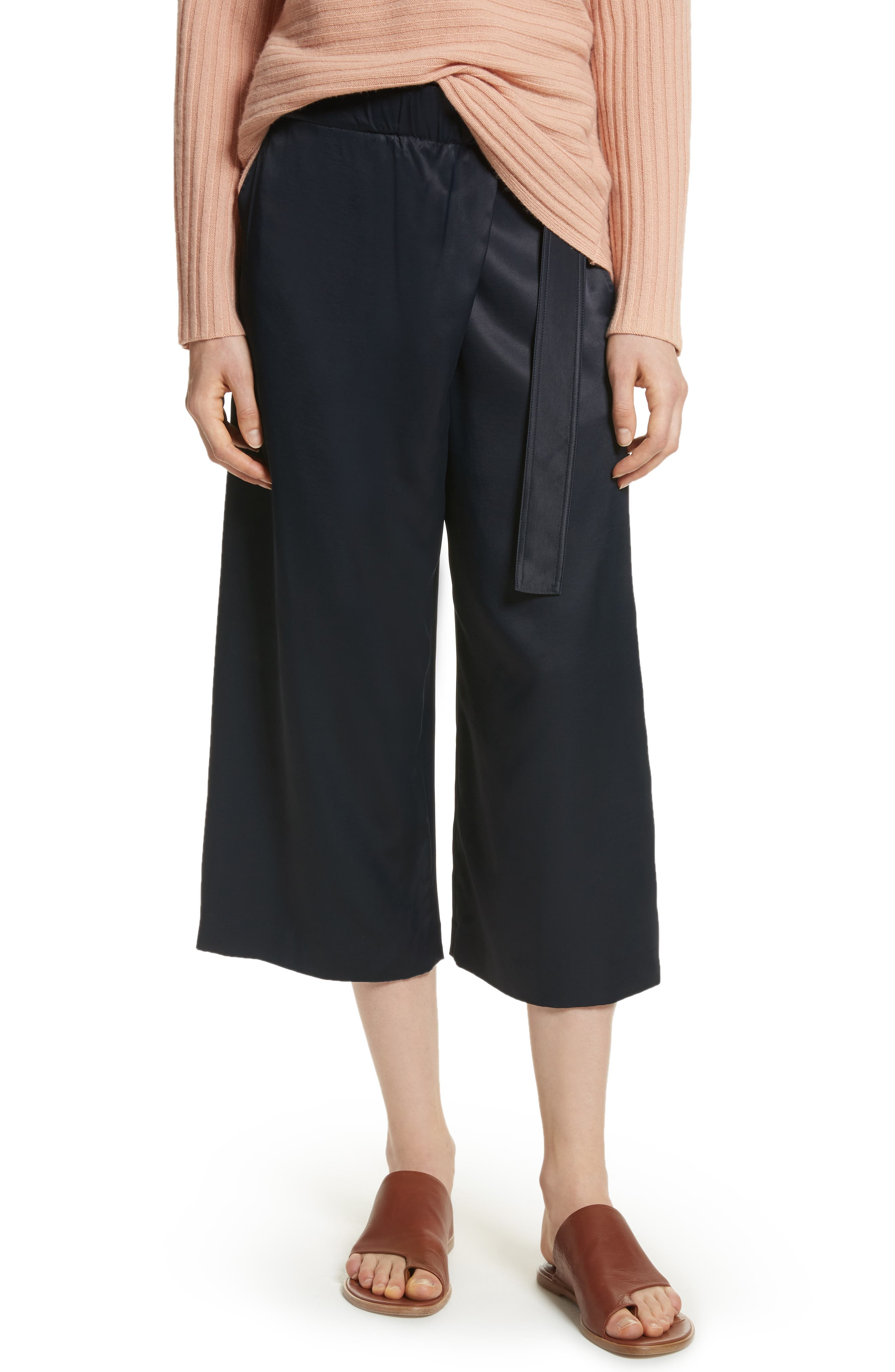 Belted Crossover Culottes,                         Main,                         color,