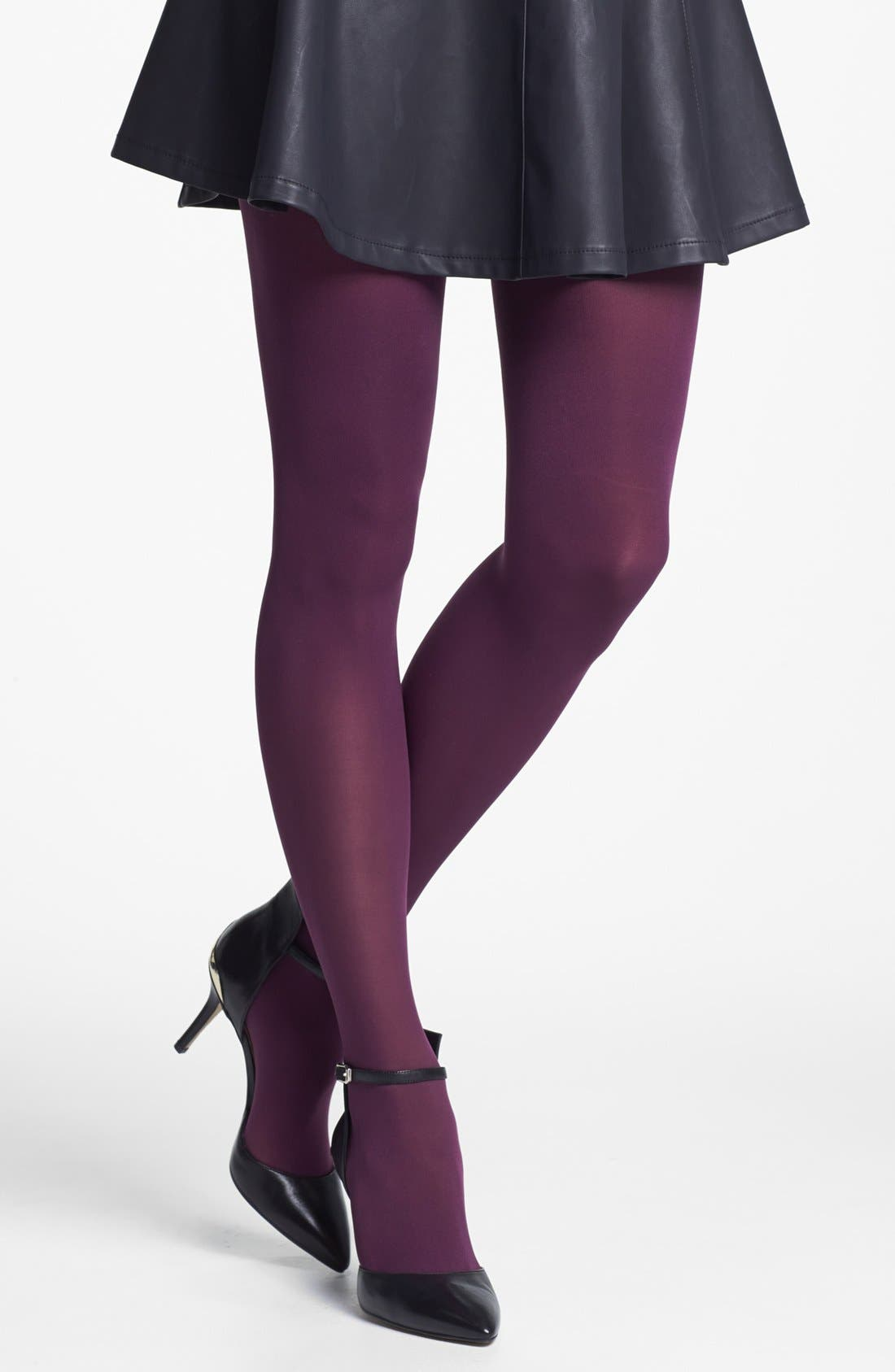 'Everyday' Opaque Tights,                             Main thumbnail 5, color,