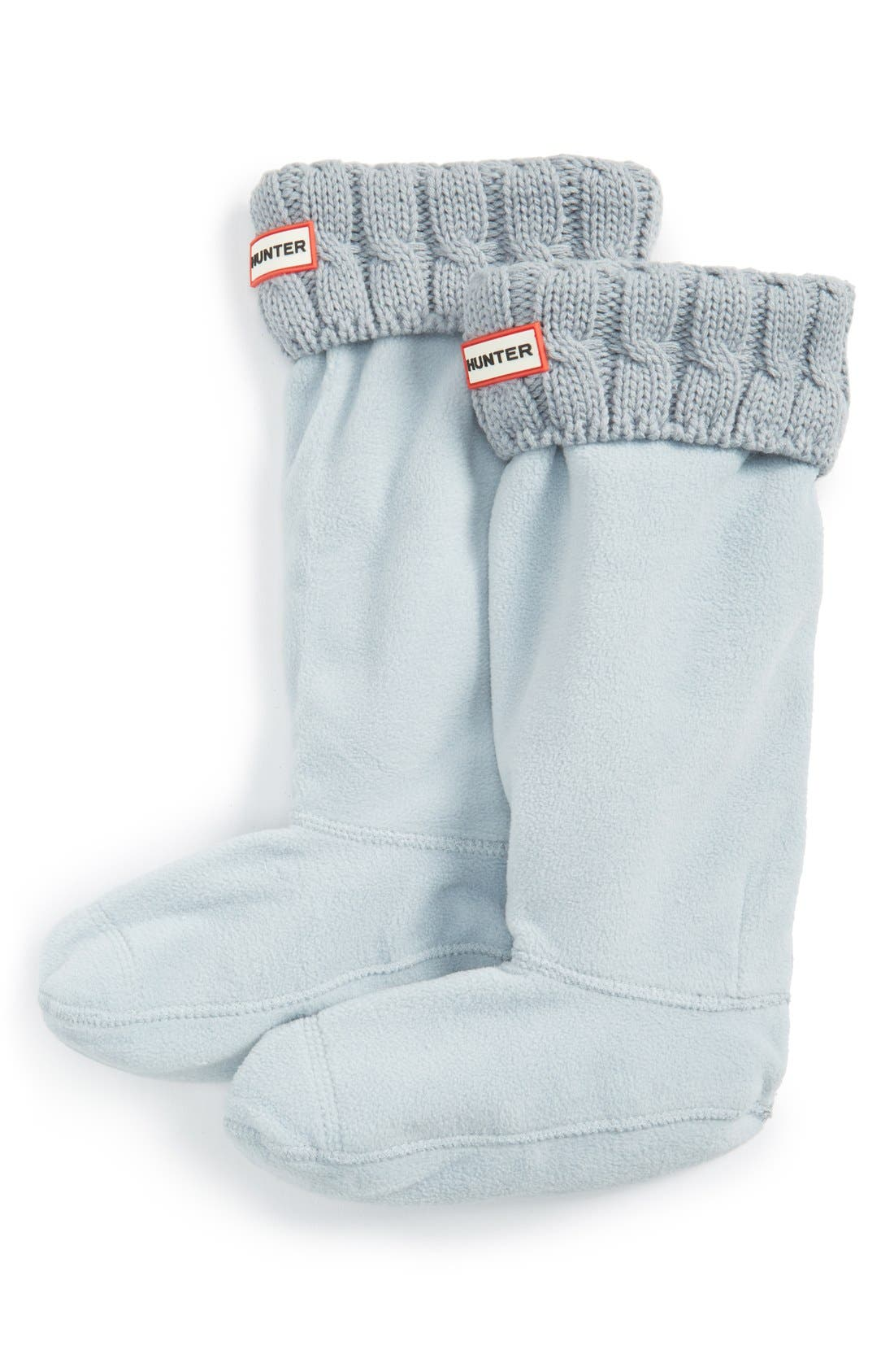 Original Tall Cable Knit Cuff Welly Boot Socks,                             Main thumbnail 8, color,