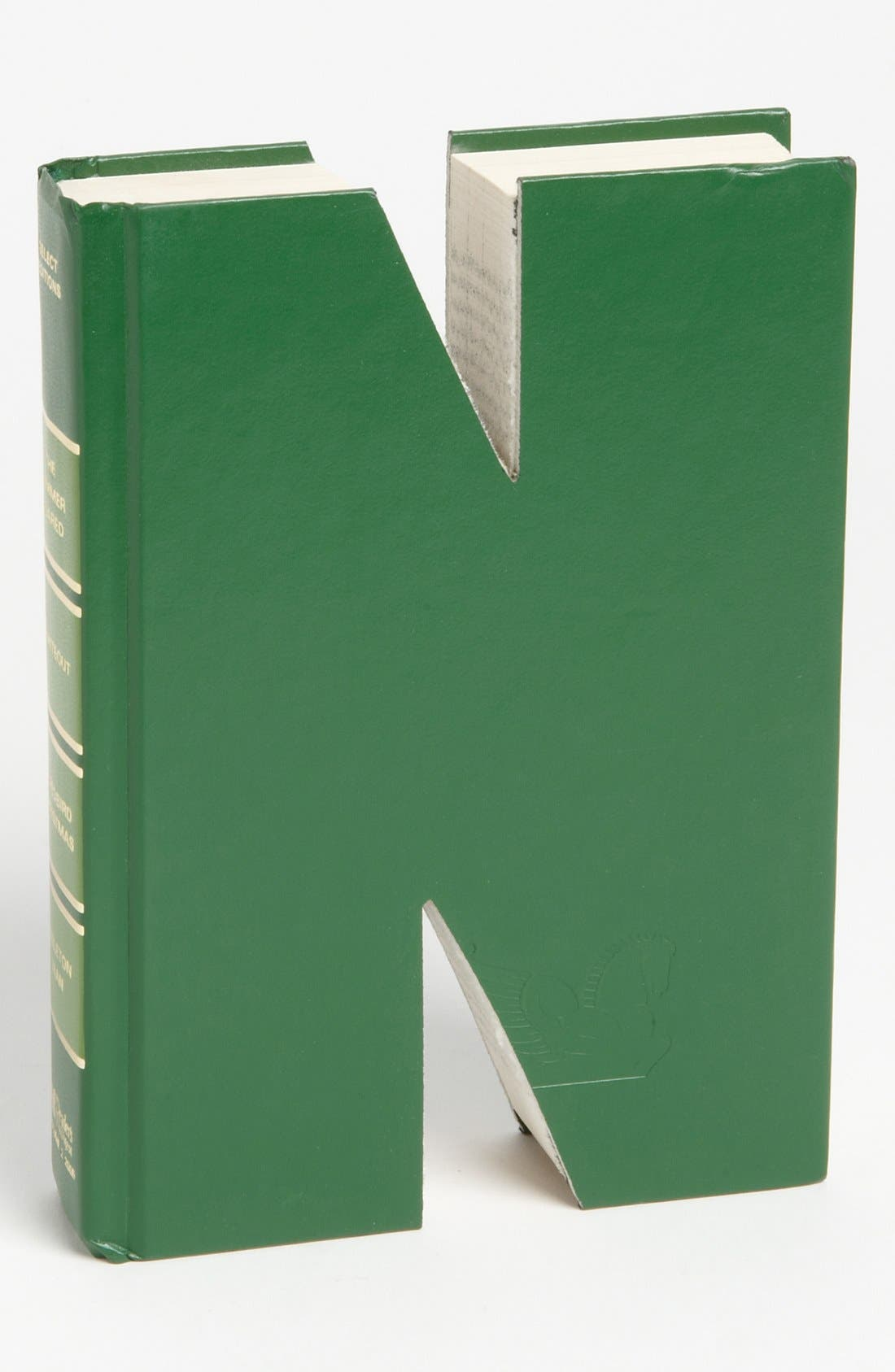 'One of a Kind Letter' Hand-Carved Recycled Book Shelf Art,                             Main thumbnail 14, color,