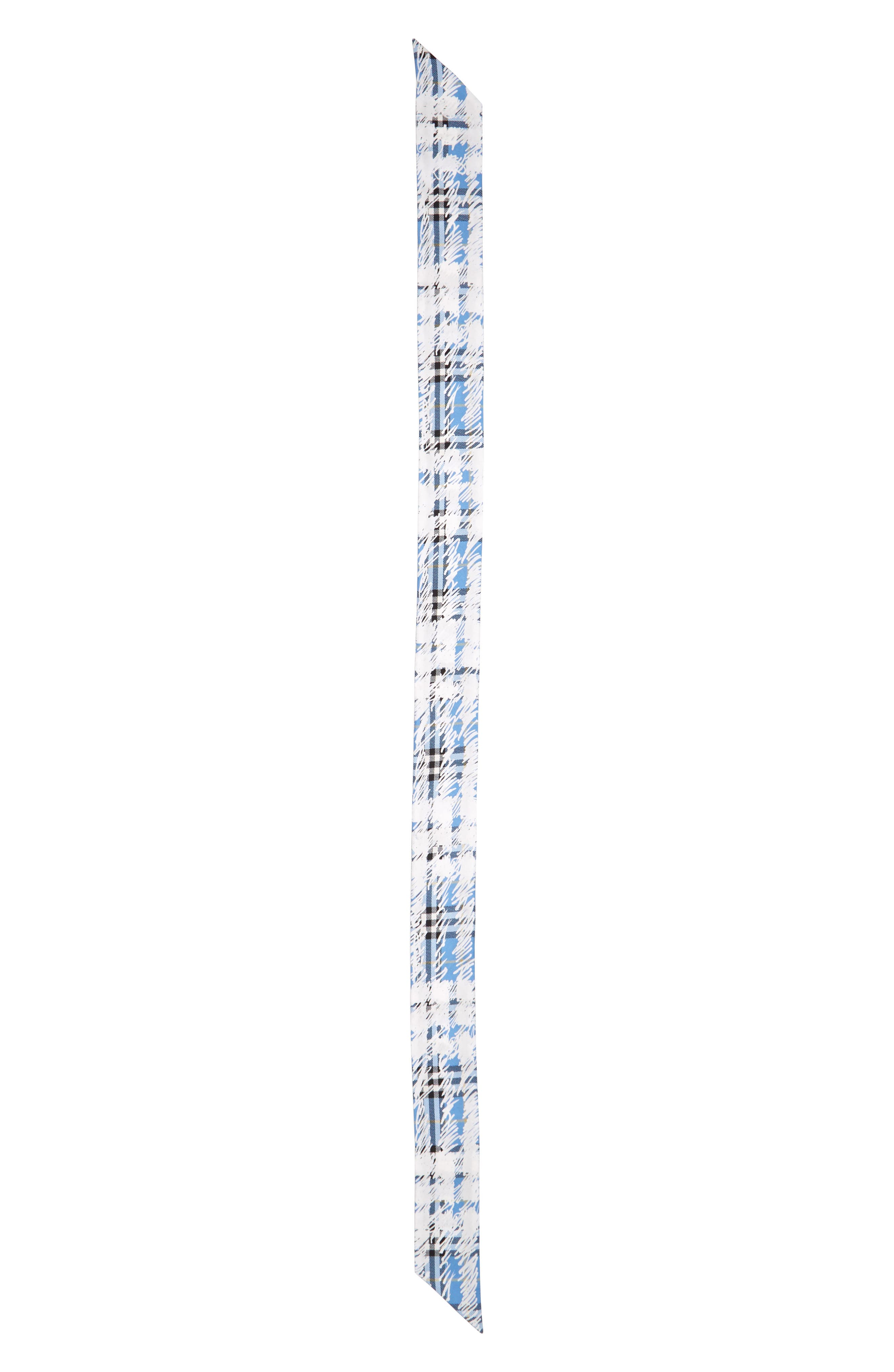 Scribble Check Silk Skinny Scarf,                         Main,                         color, 464