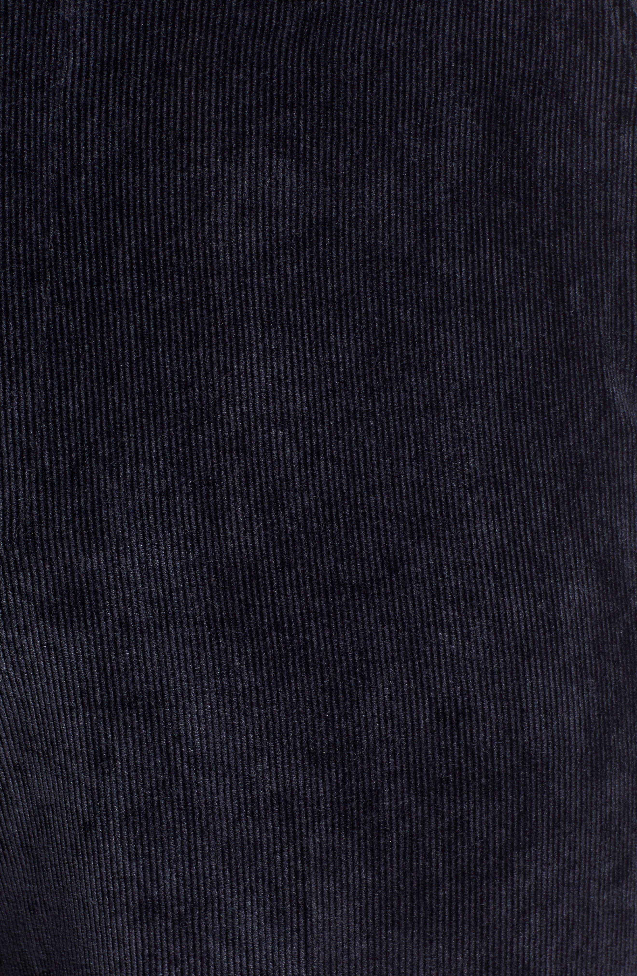 BERLE,                             Classic Fit Flat Front Corduroy Trousers,                             Alternate thumbnail 5, color,                             410