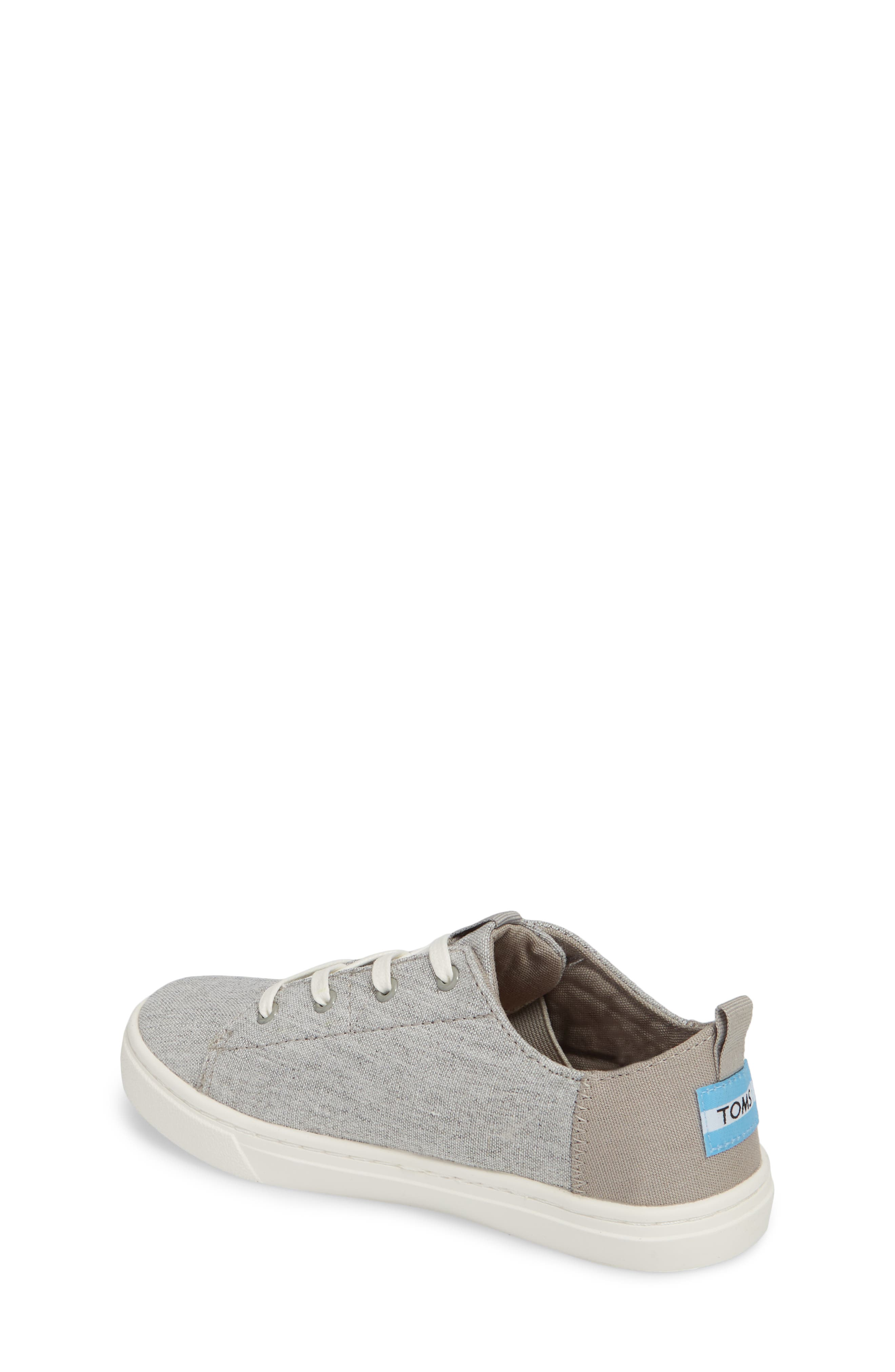Lenny Sneaker,                             Alternate thumbnail 2, color,                             DRIZZLE GREY SLUB CHAMBRAY