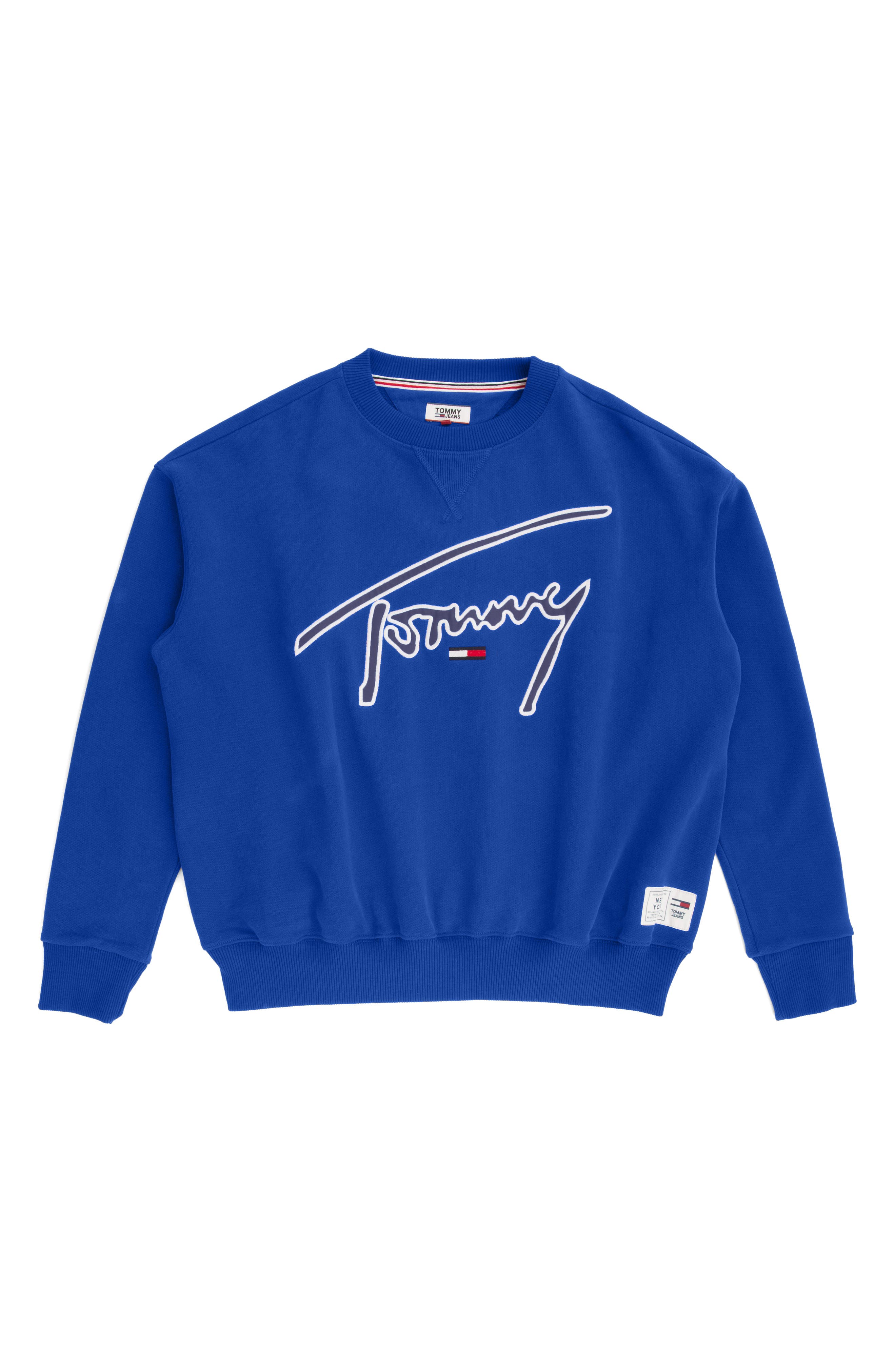 TOMMY JEANS,                             TJW Embroidered Logo Sweatshirt,                             Alternate thumbnail 4, color,                             419