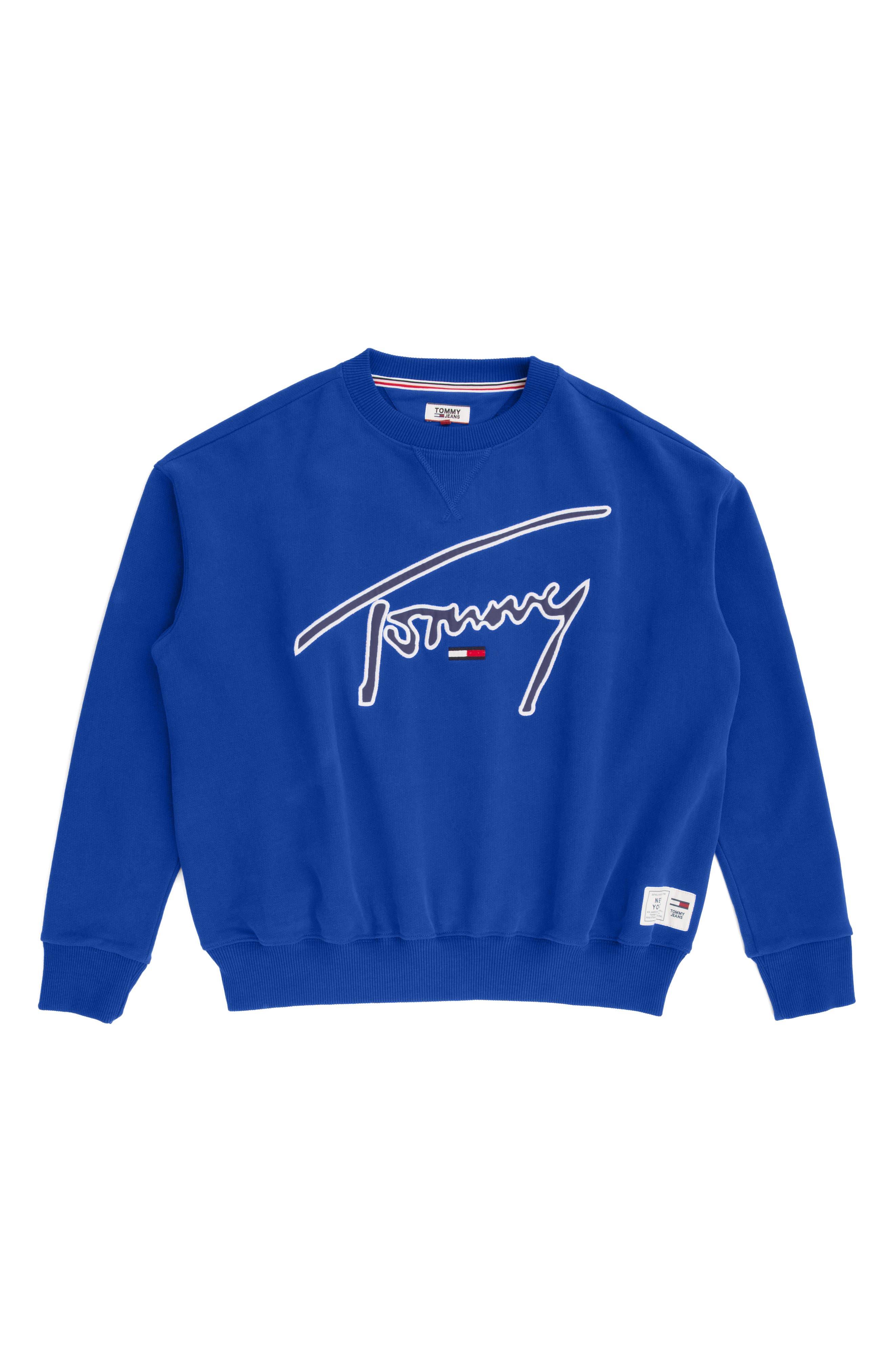 TJW Embroidered Logo Sweatshirt,                             Alternate thumbnail 4, color,                             419