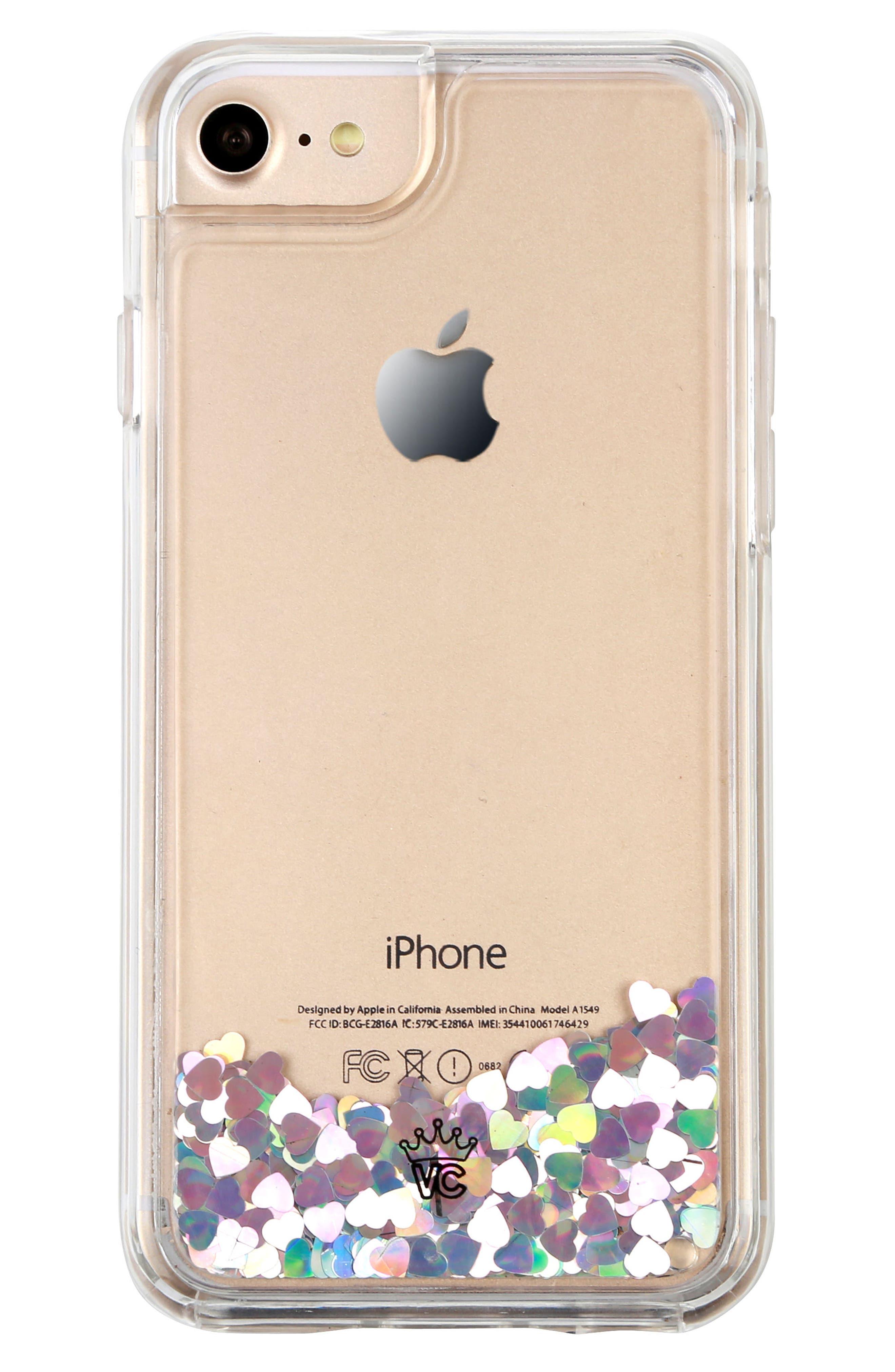 Holo Hearts iPhone 7 Case,                             Alternate thumbnail 5, color,                             040