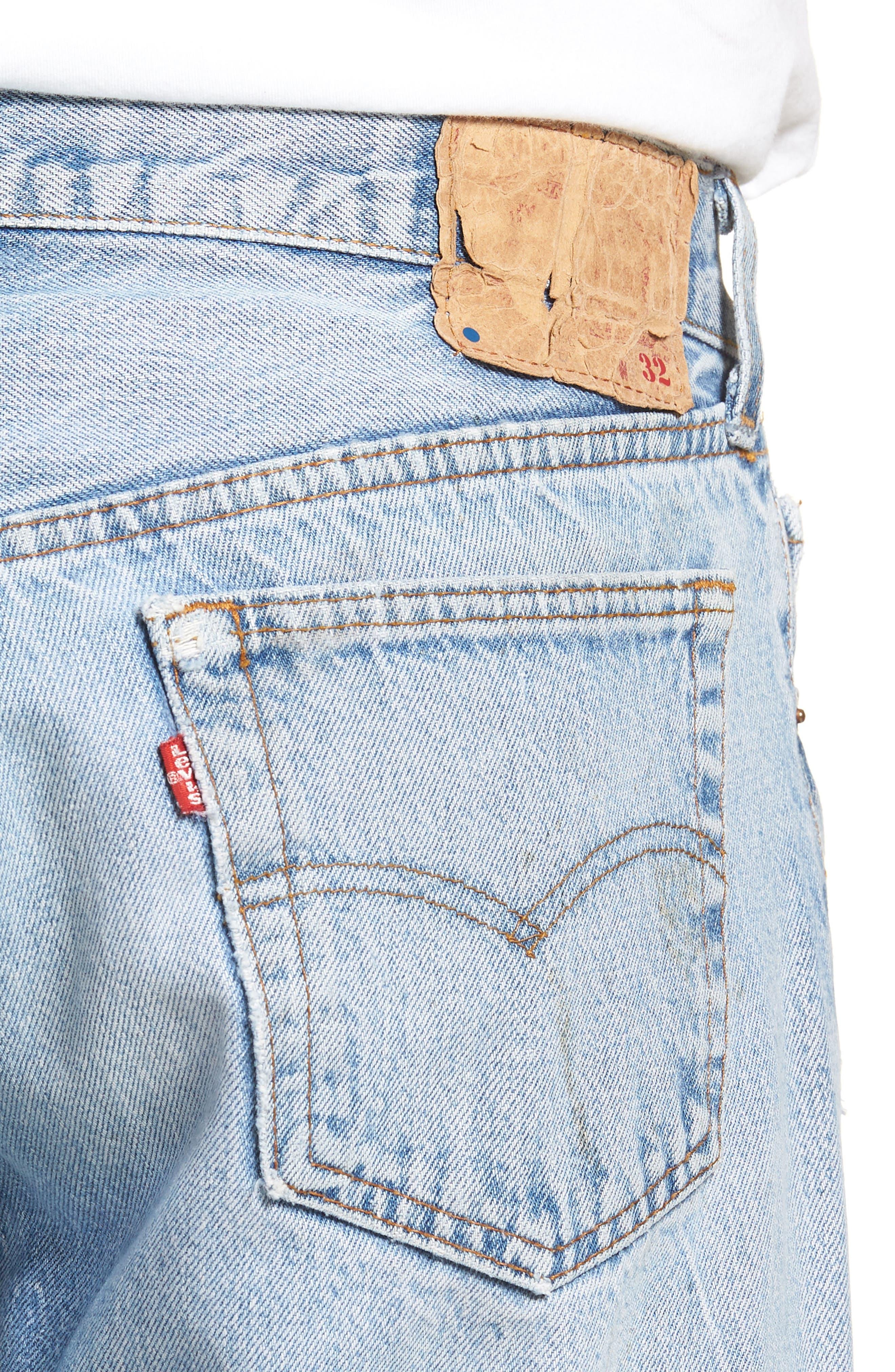 Authorized Vintage 501<sup>™</sup> Straight Leg Jeans,                             Alternate thumbnail 4, color,                             AV BLUE