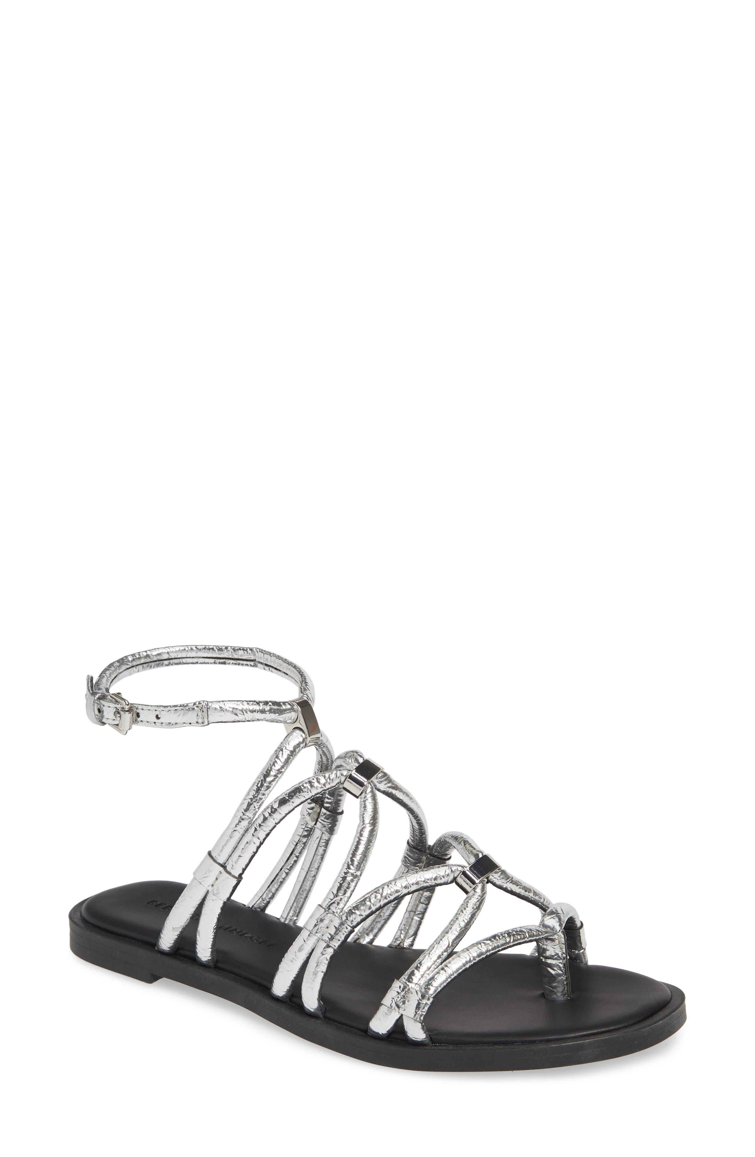 Rebecca Minkoff Sarle Strappy Sandal, Metallic