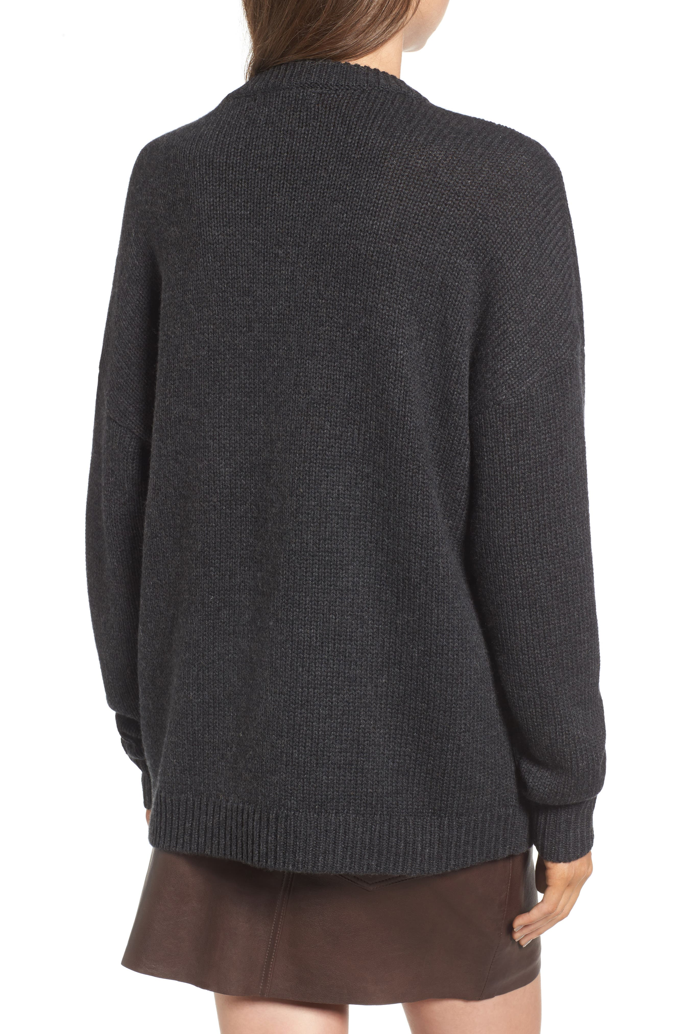 x Something Navy Crewneck Sweater,                             Alternate thumbnail 7, color,