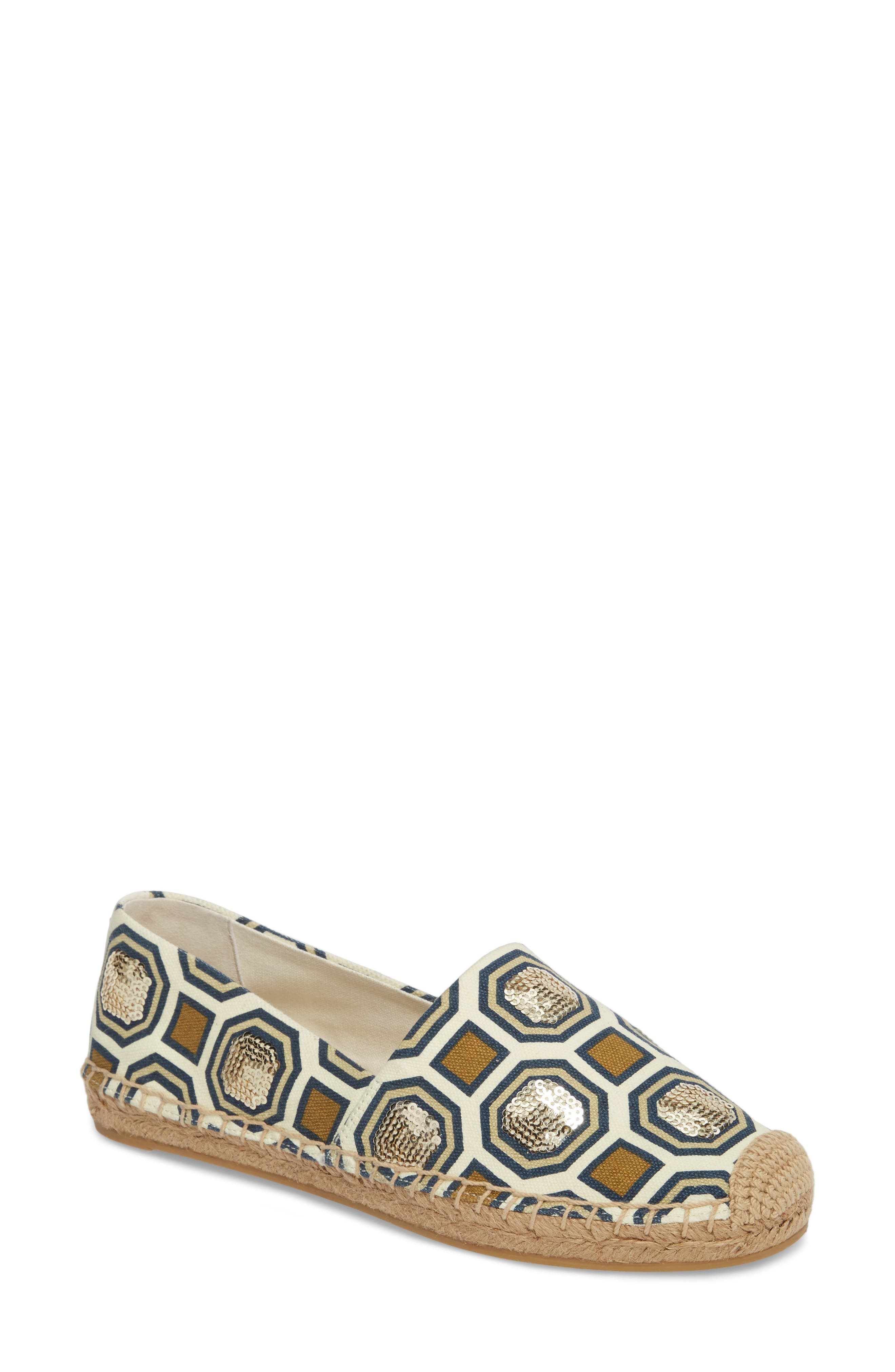 Cecily Sequin Embellished Espadrille,                             Main thumbnail 1, color,                             250