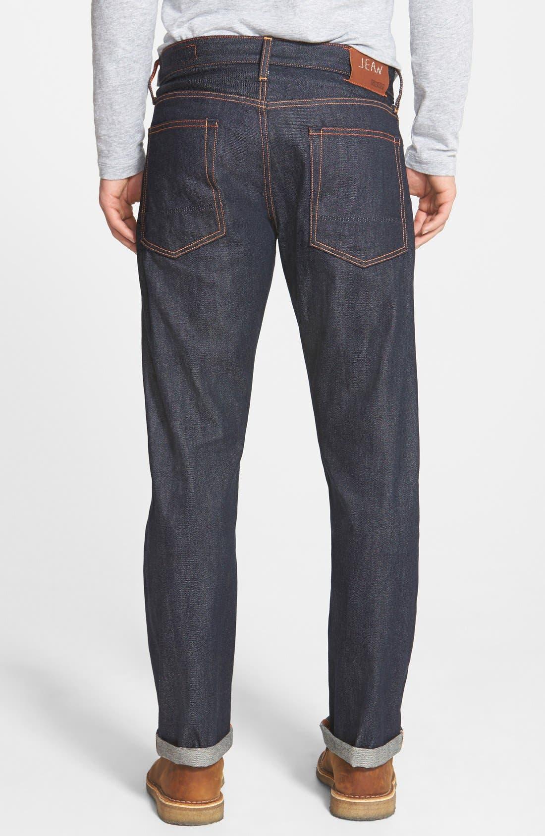'Rocker' Straight Leg Selvedge Jeans,                             Alternate thumbnail 2, color,                             419