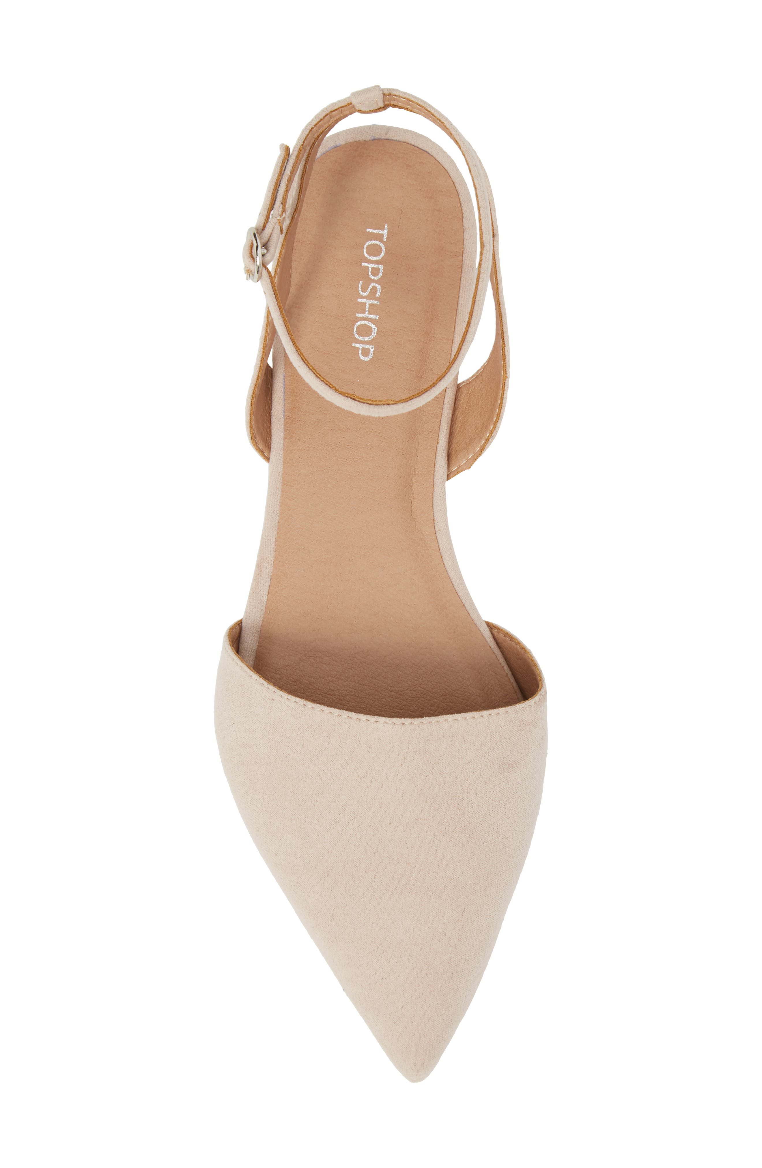Anne Pointy Toe Flat,                             Alternate thumbnail 5, color,                             NUDE