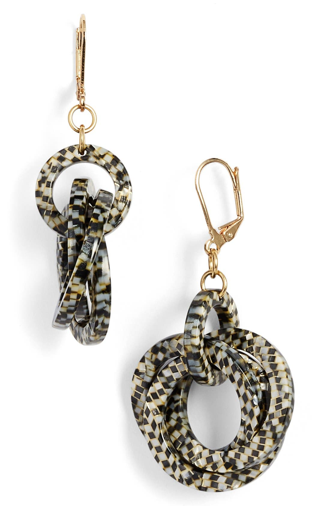 'Twisted Loops' Drop Earrings,                             Main thumbnail 2, color,