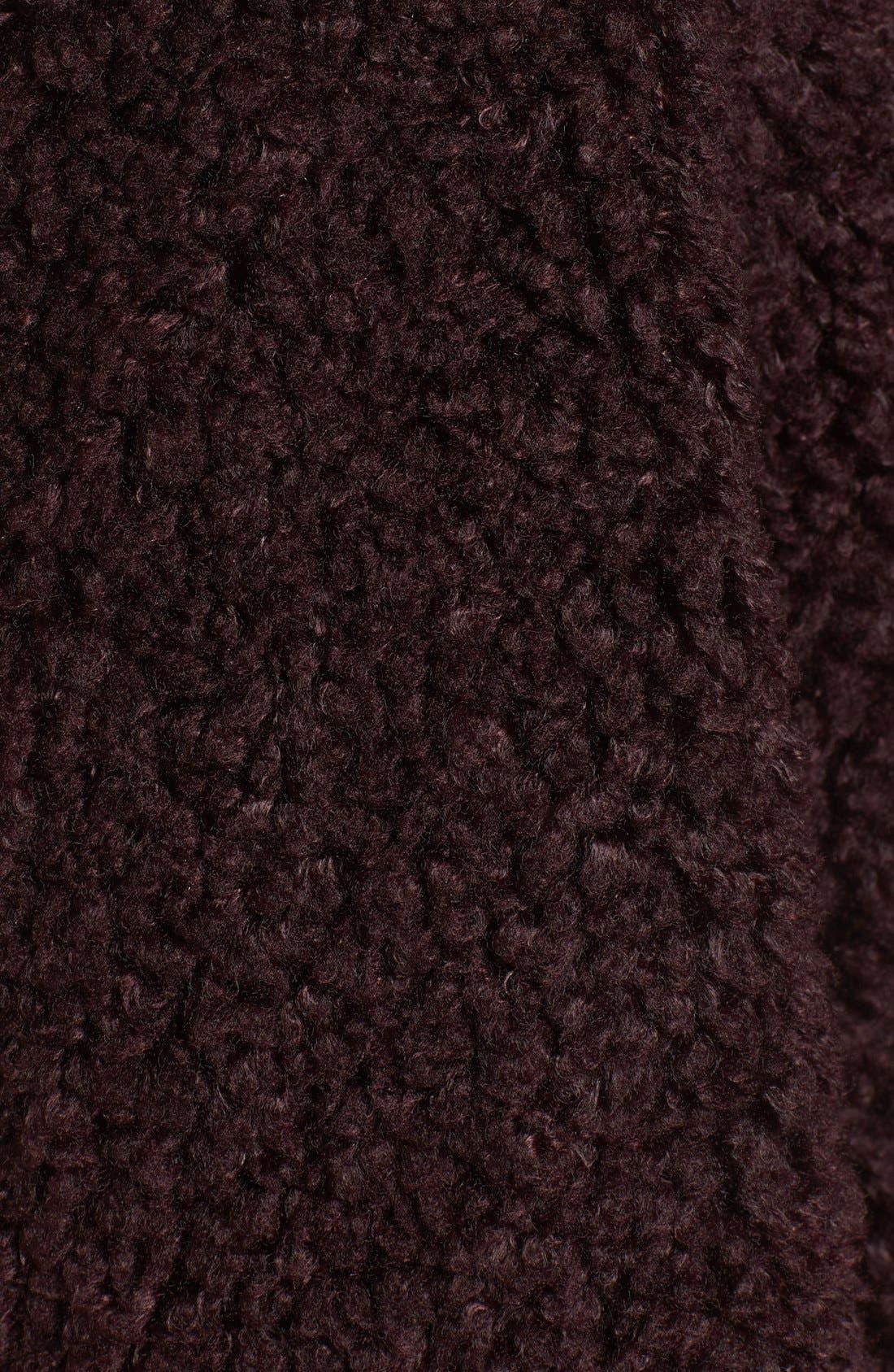 'Teddy Bear' Notch Collar Reversible Faux Fur Coat,                             Alternate thumbnail 18, color,