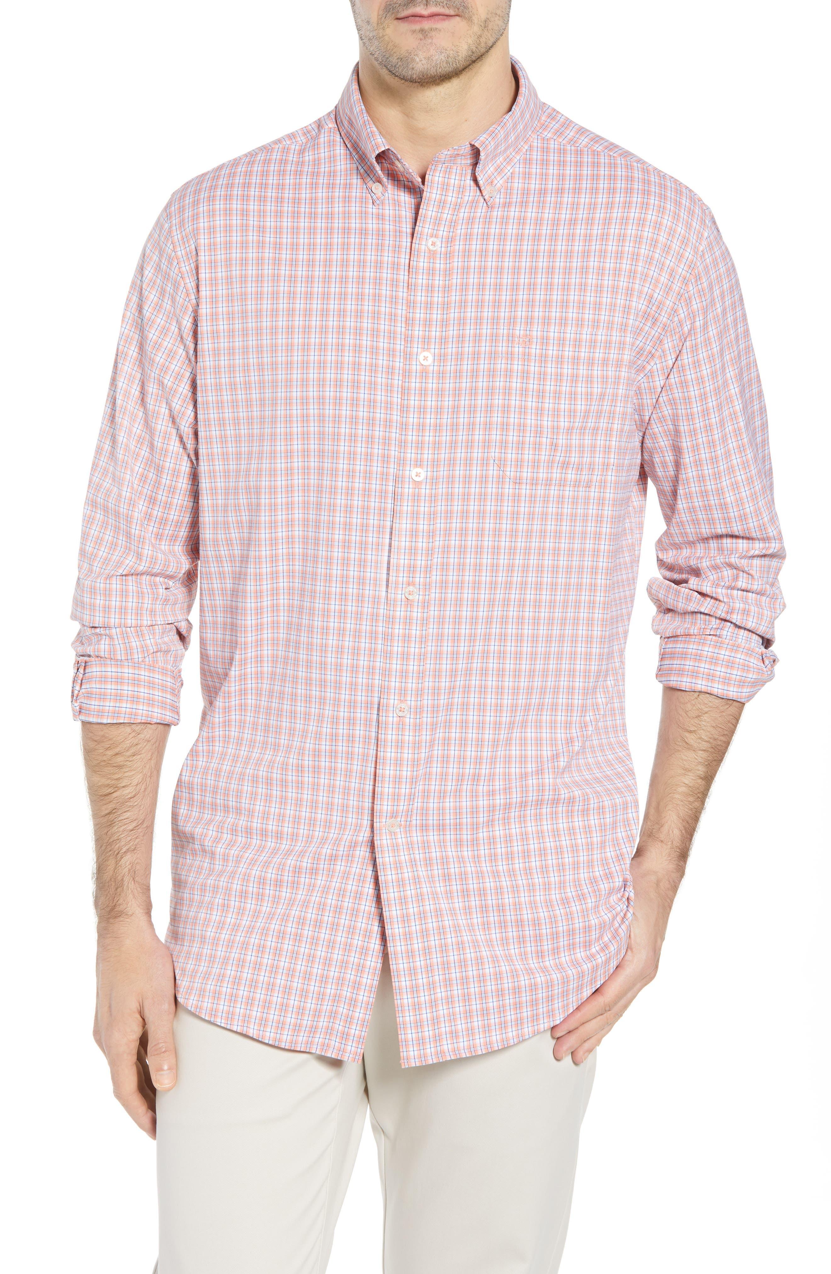 Grand Turk Regular Fit Stretch Plaid Sport Shirt,                         Main,                         color,